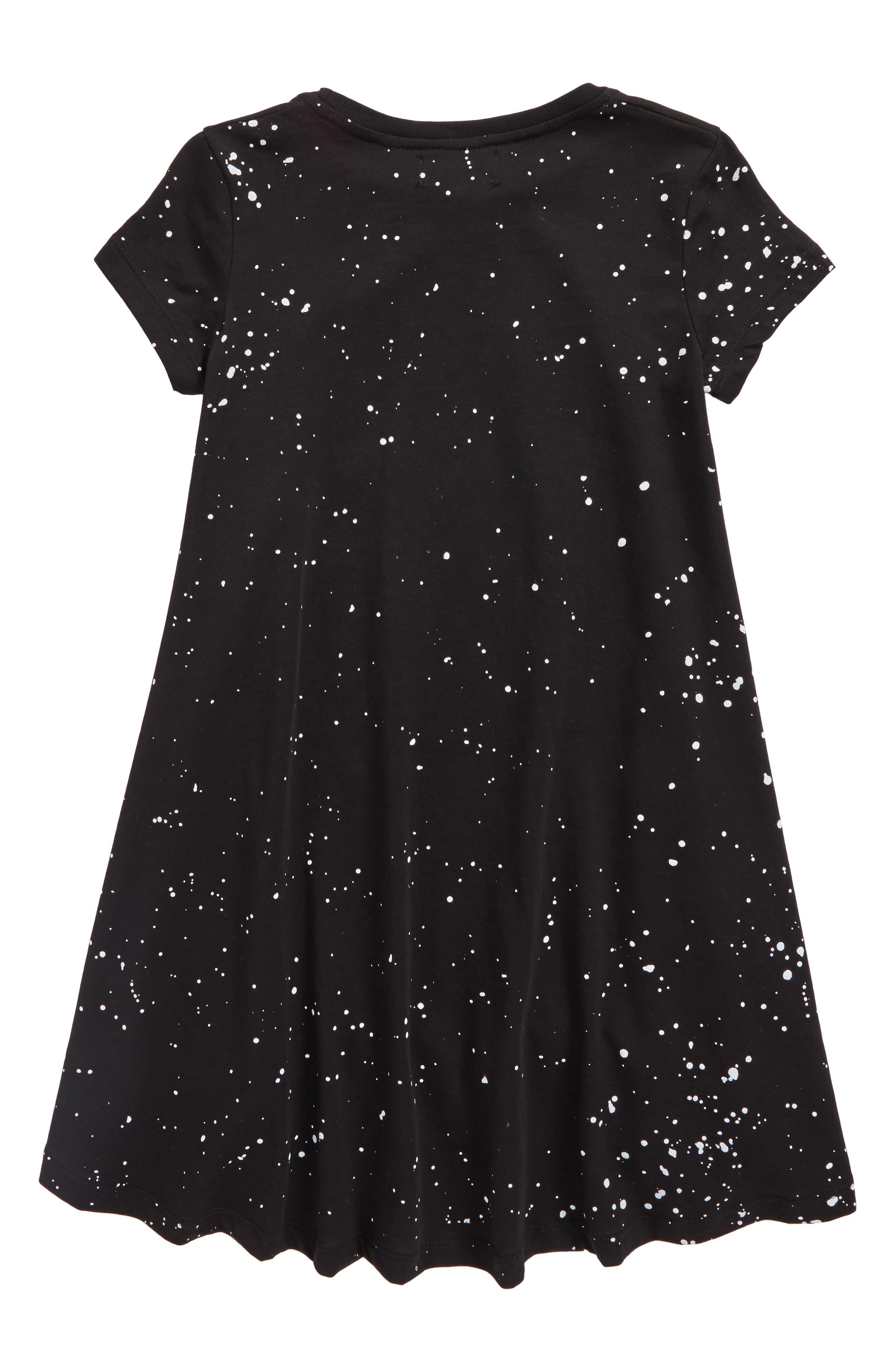 Space Lollipop Twirl Dress,                             Alternate thumbnail 2, color,                             Black Pink