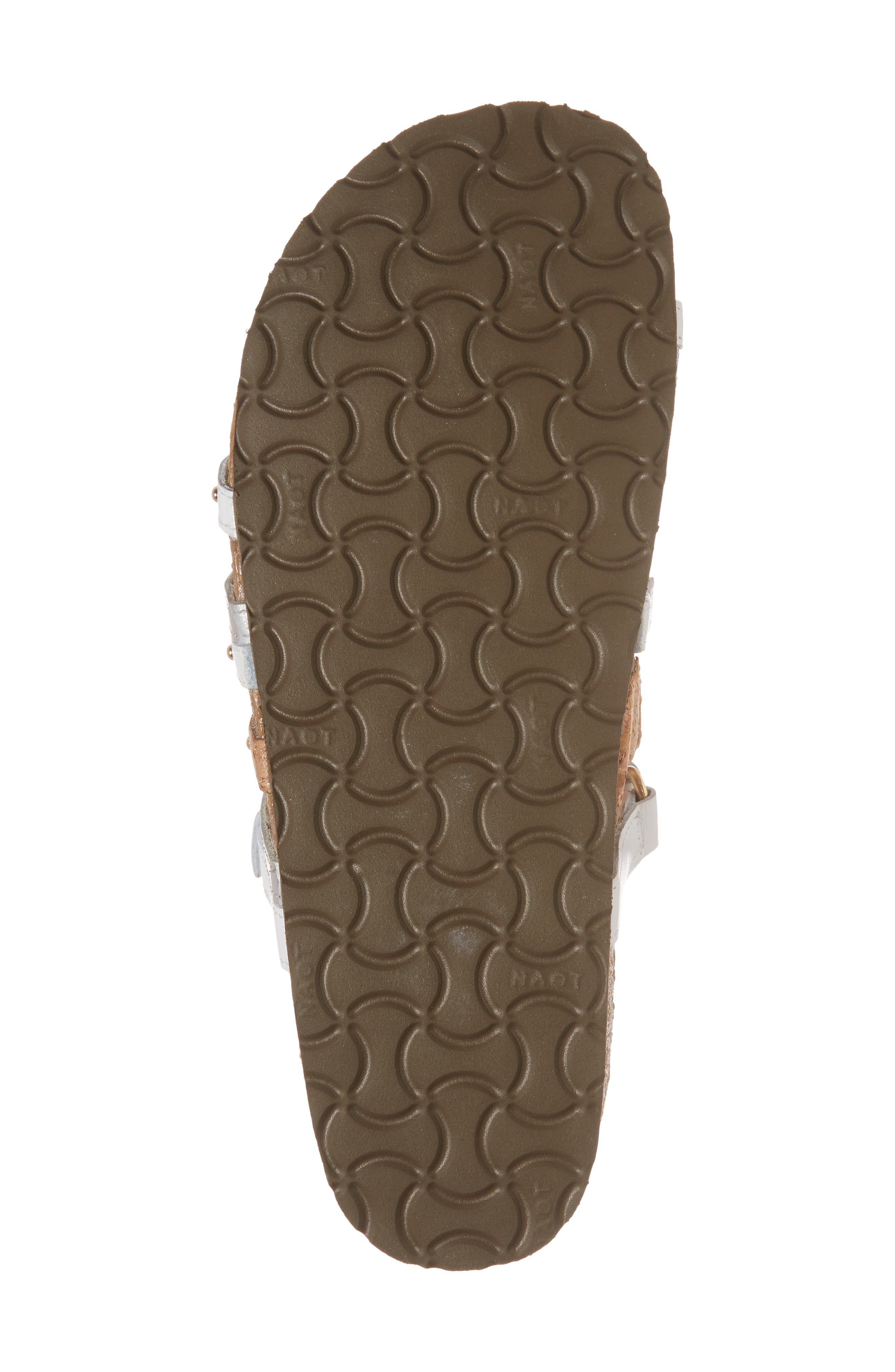 Prescott Sandal,                             Alternate thumbnail 6, color,                             White/ Silver Leather