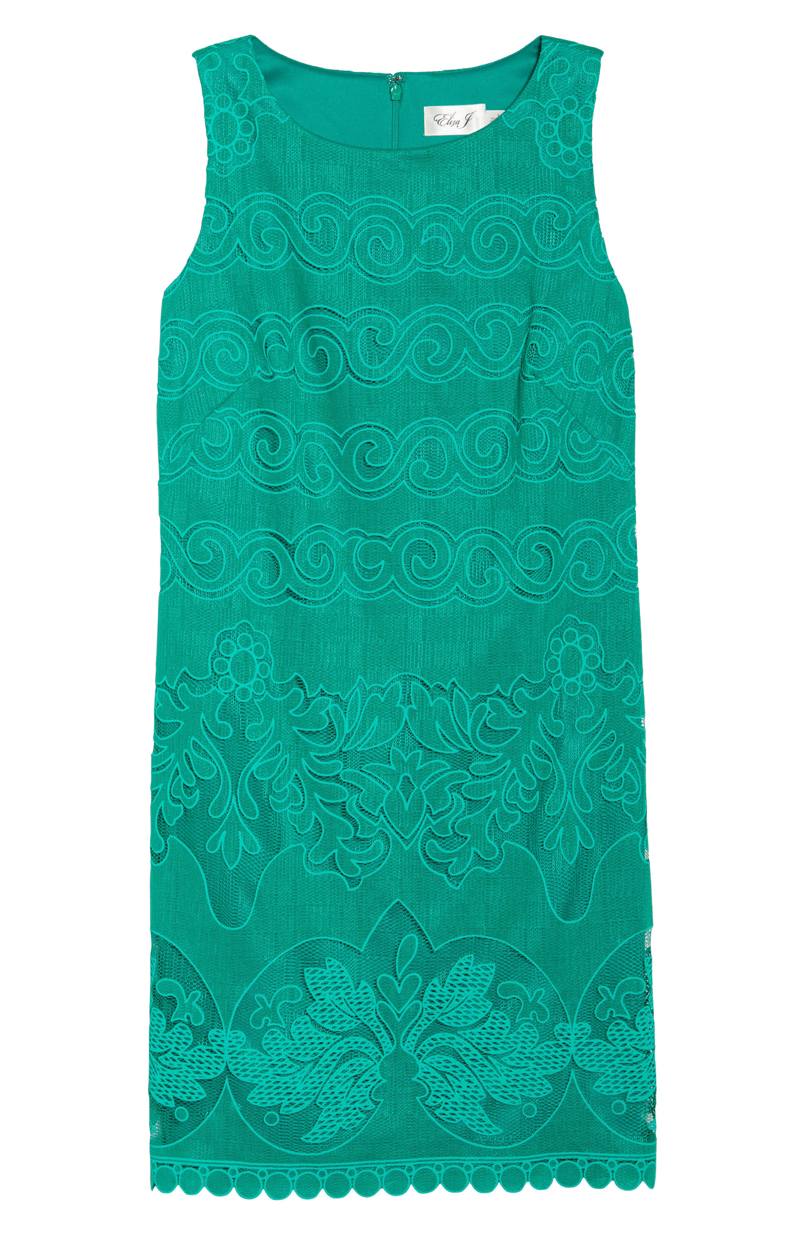 A-Line Dress,                             Alternate thumbnail 6, color,                             Green