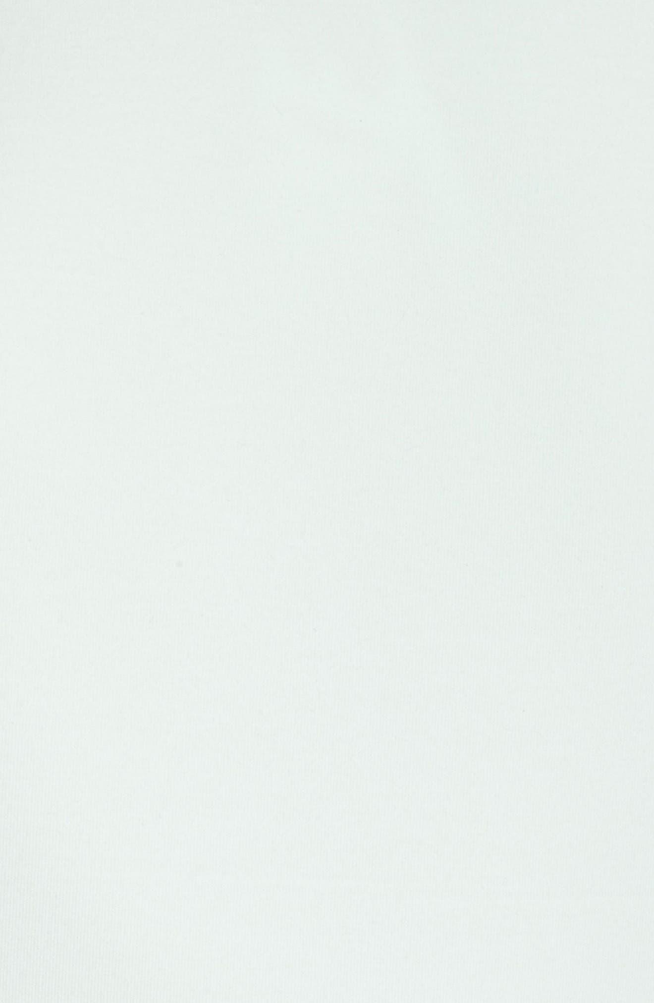 NikeLab ACG Fleece Women's Crewneck Top,                             Alternate thumbnail 6, color,                             Barely Green/ Team Orange