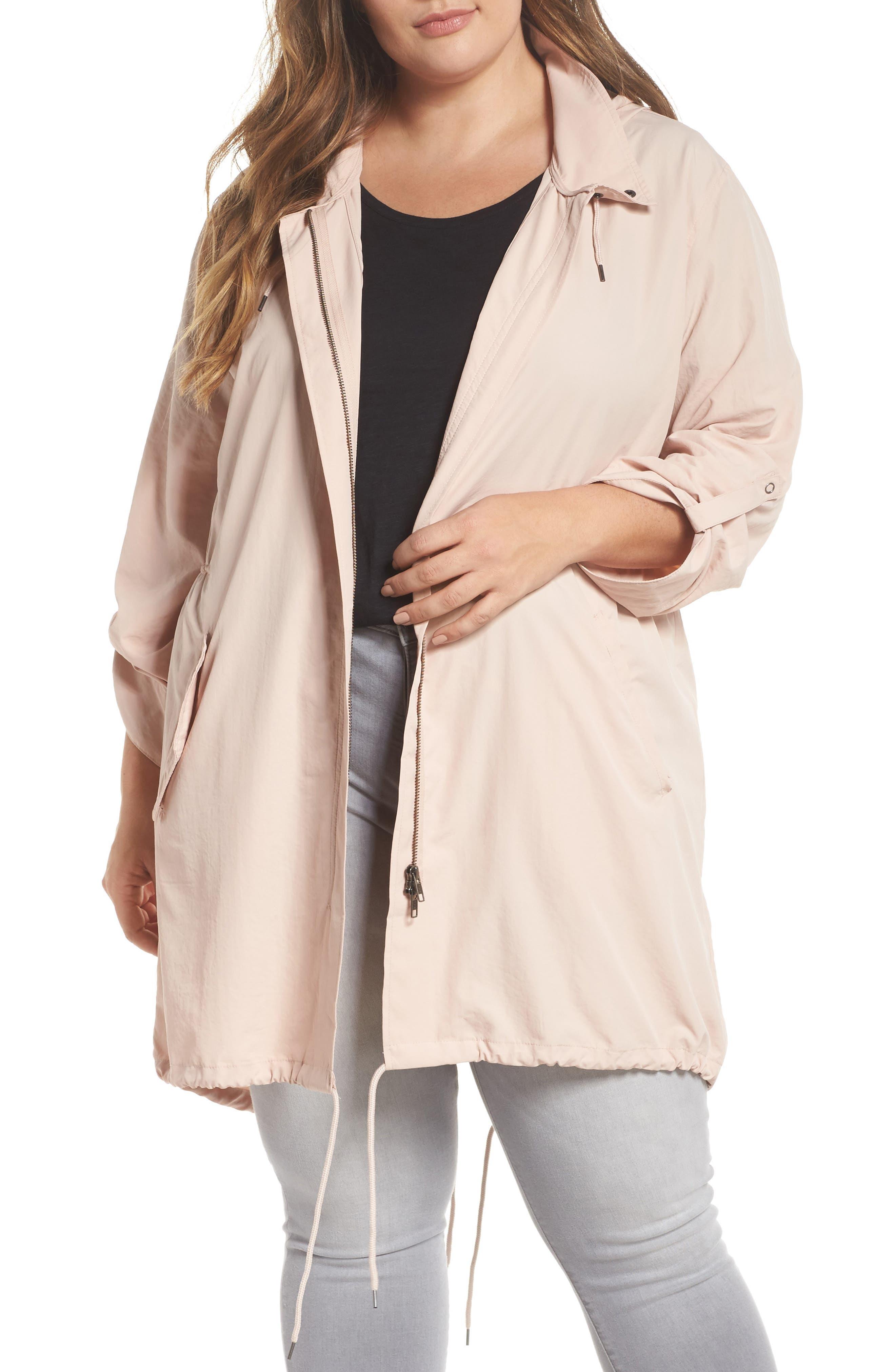 Caslon® Tumbled Anorak Jacket (Plus Size)