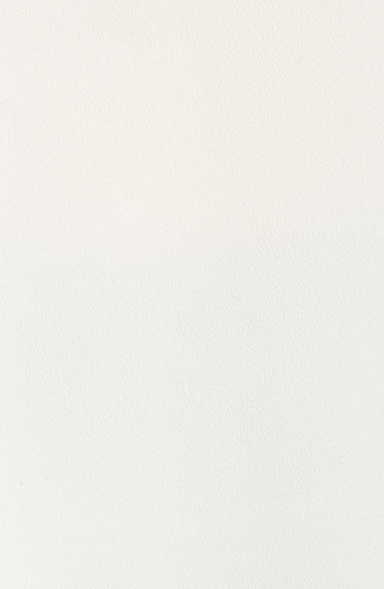Lace-Up Blouse,                             Alternate thumbnail 6, color,                             Antique White
