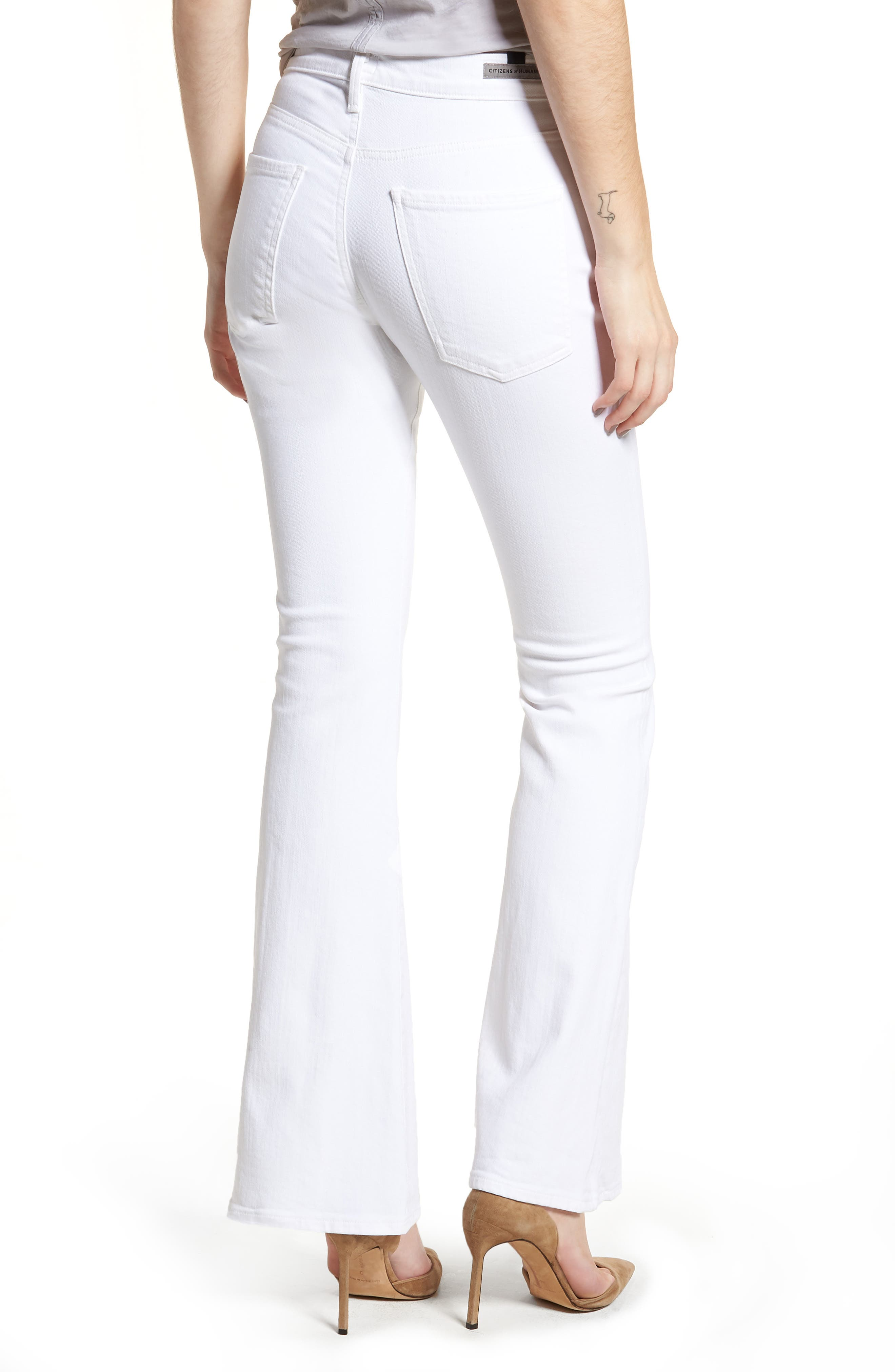 Fleetwood Flare Jeans,                             Alternate thumbnail 2, color,                             Optic White