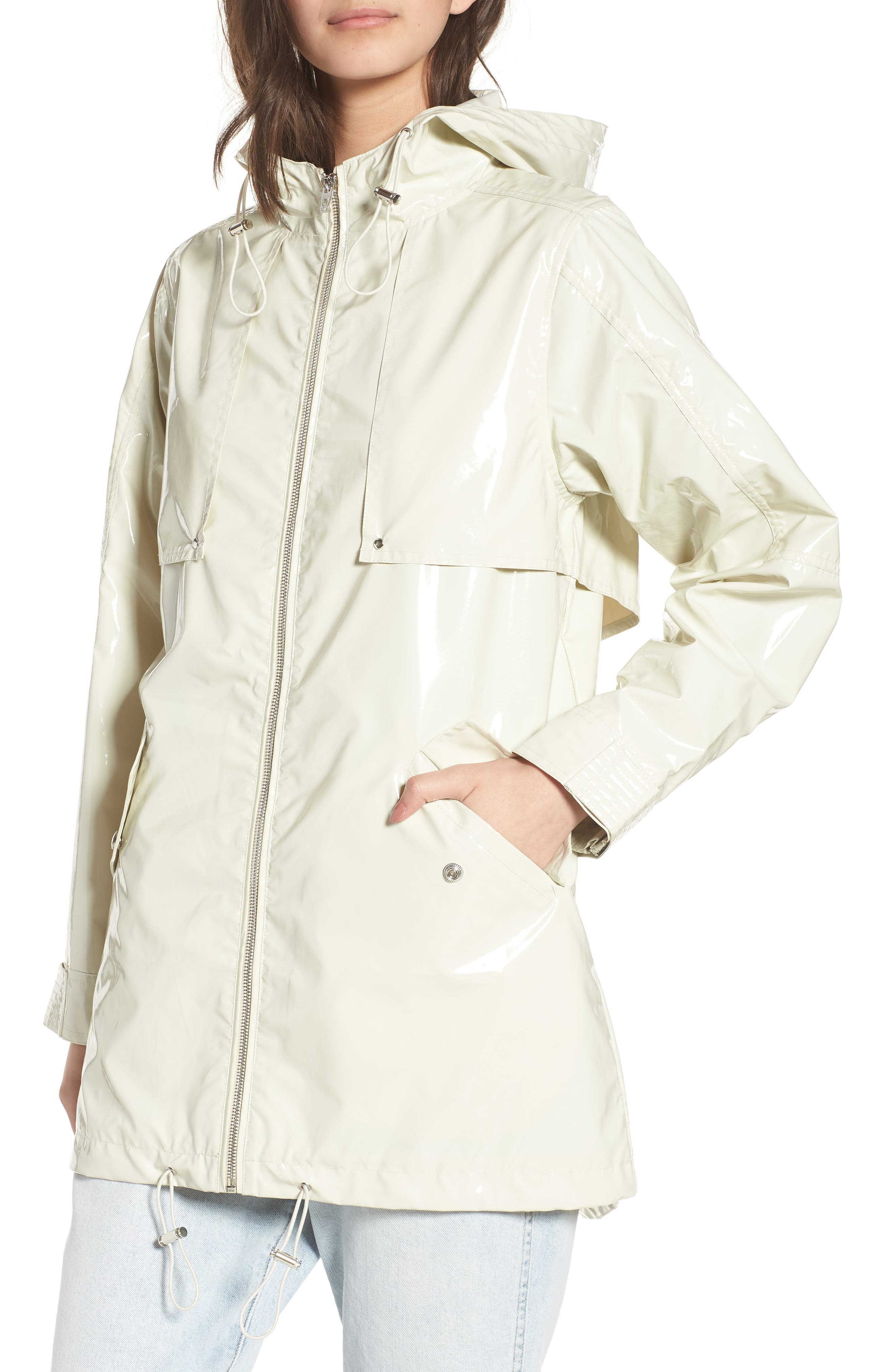 Patent Parka,                             Alternate thumbnail 4, color,                             White Chocolate Bone
