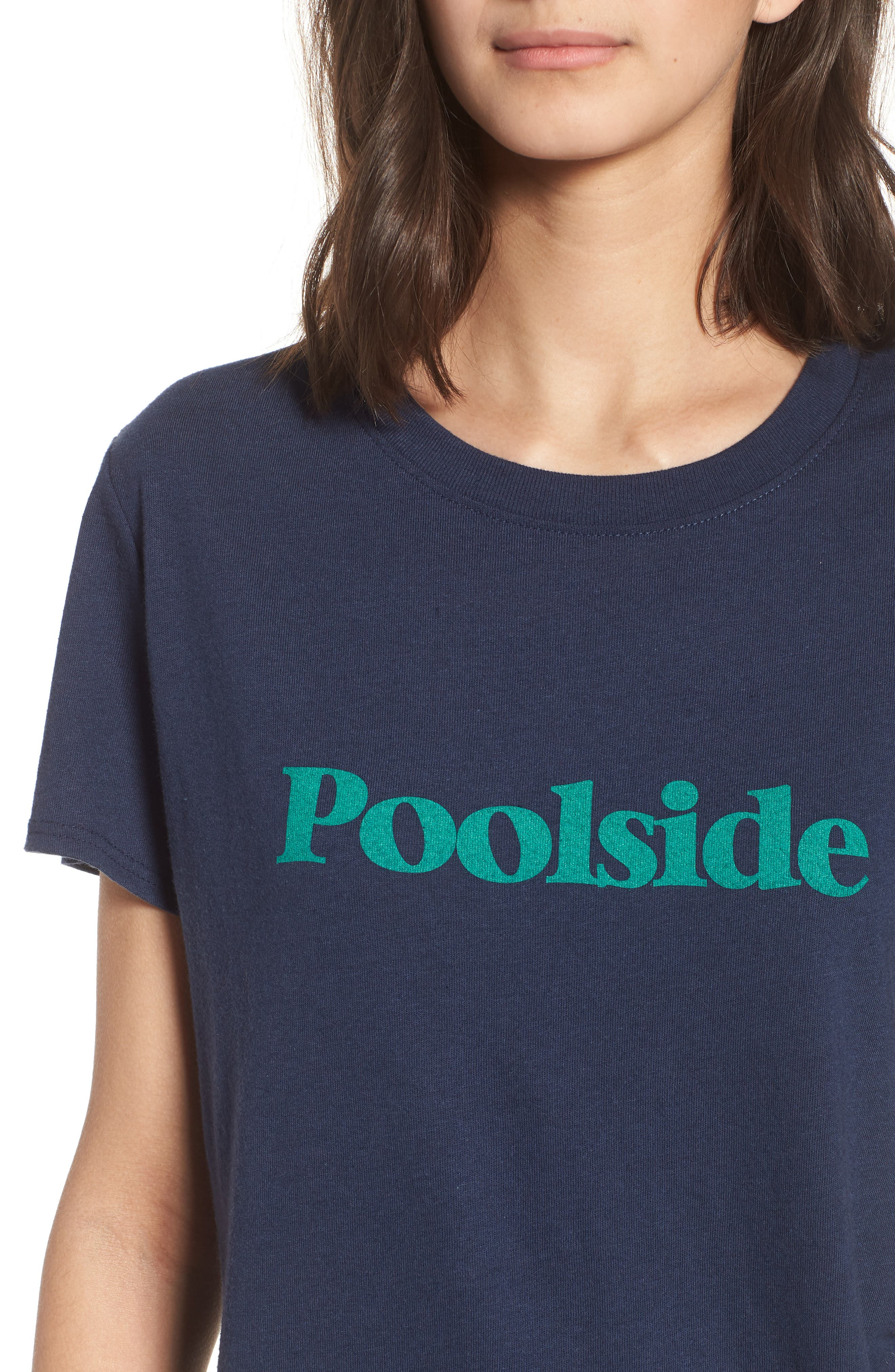 Poolside Graphic Tee,                             Alternate thumbnail 4, color,                             Navy