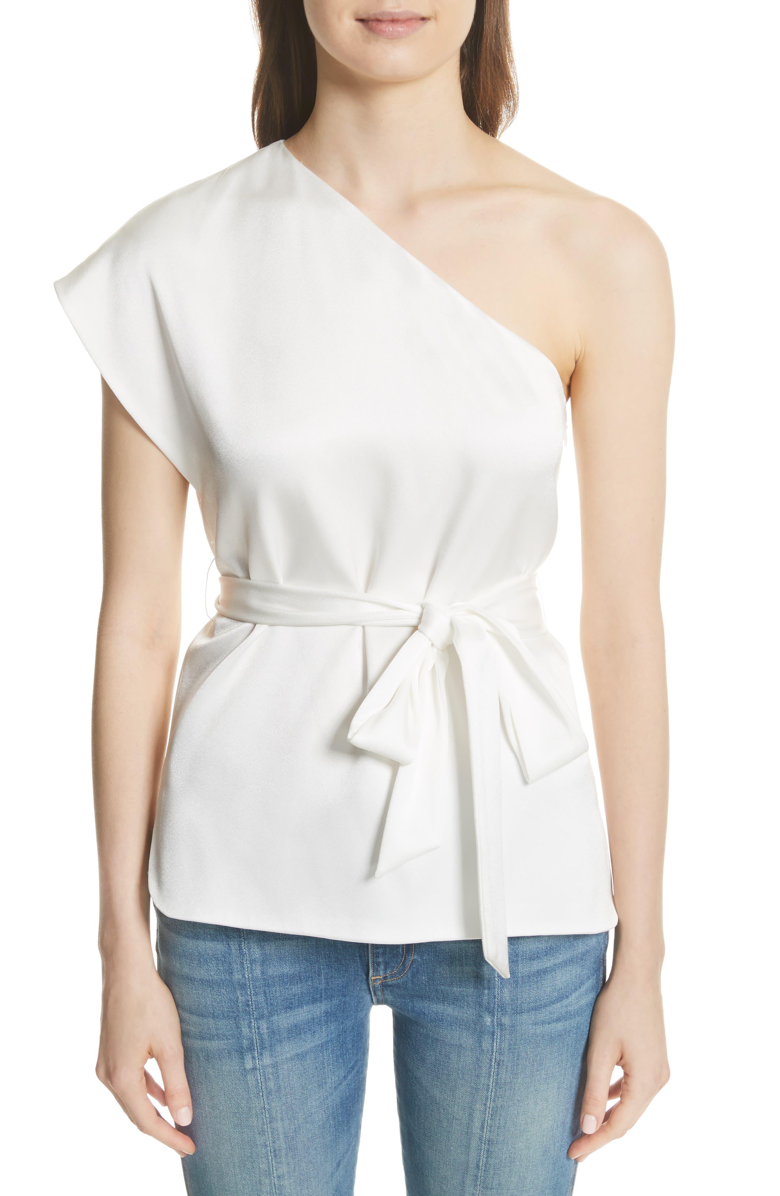 Lavine One-Shoulder Top,                         Main,                         color, White