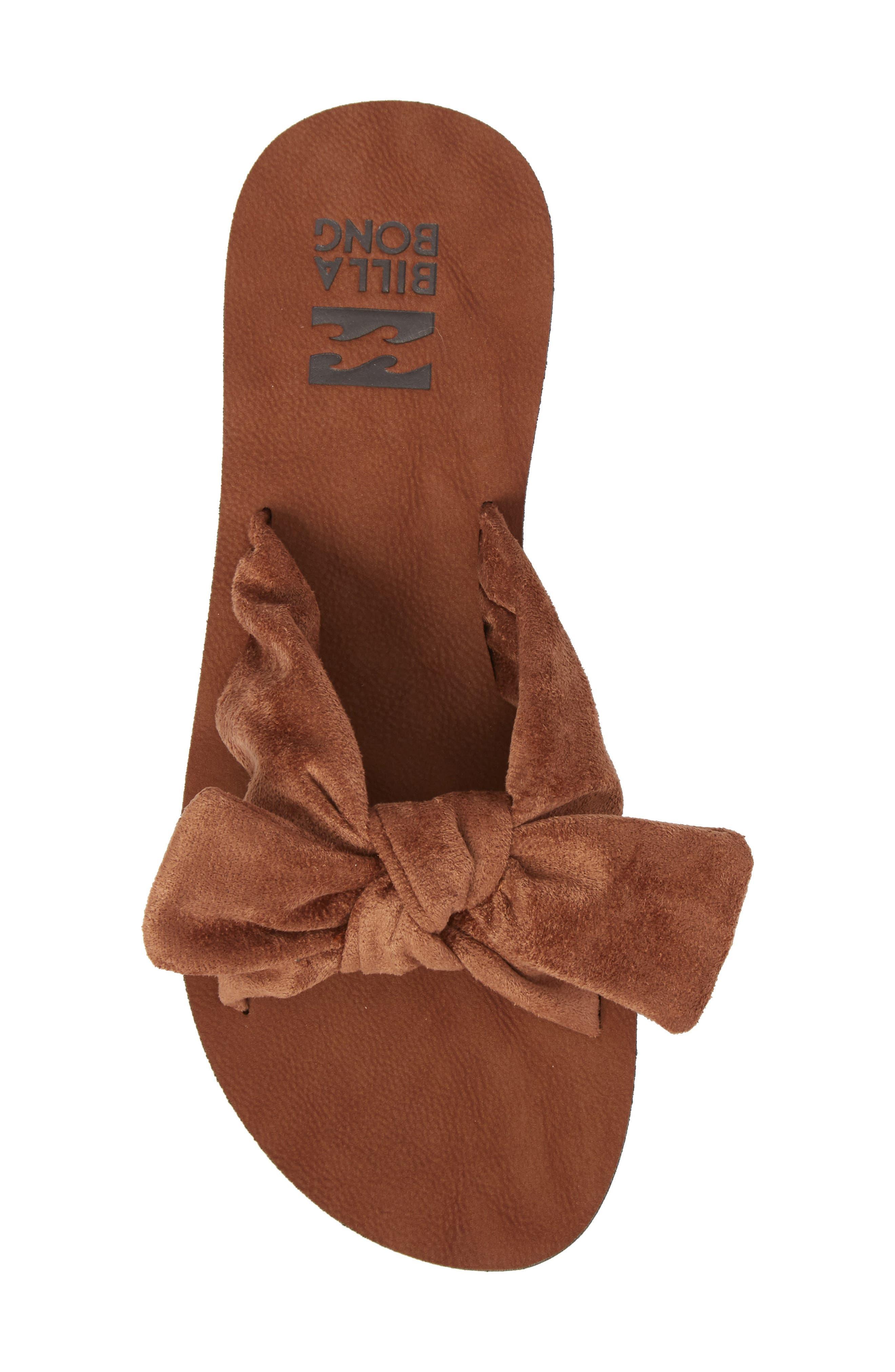 Tied-Up Slide Sandal,                             Alternate thumbnail 5, color,                             Desert Brown
