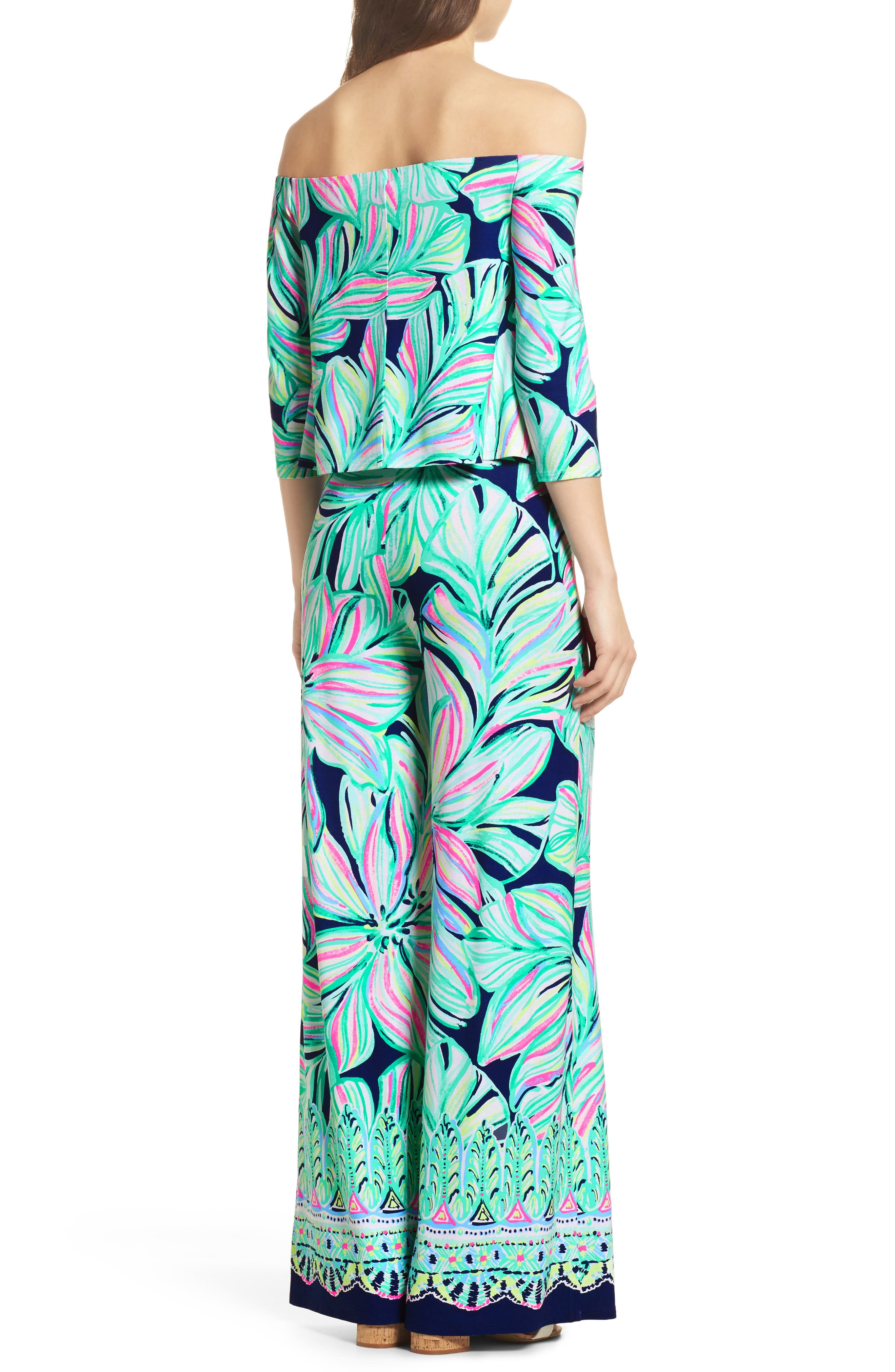 Alternate Image 2  - Lilly Pulitzer® Weslee Floral Top & Pants