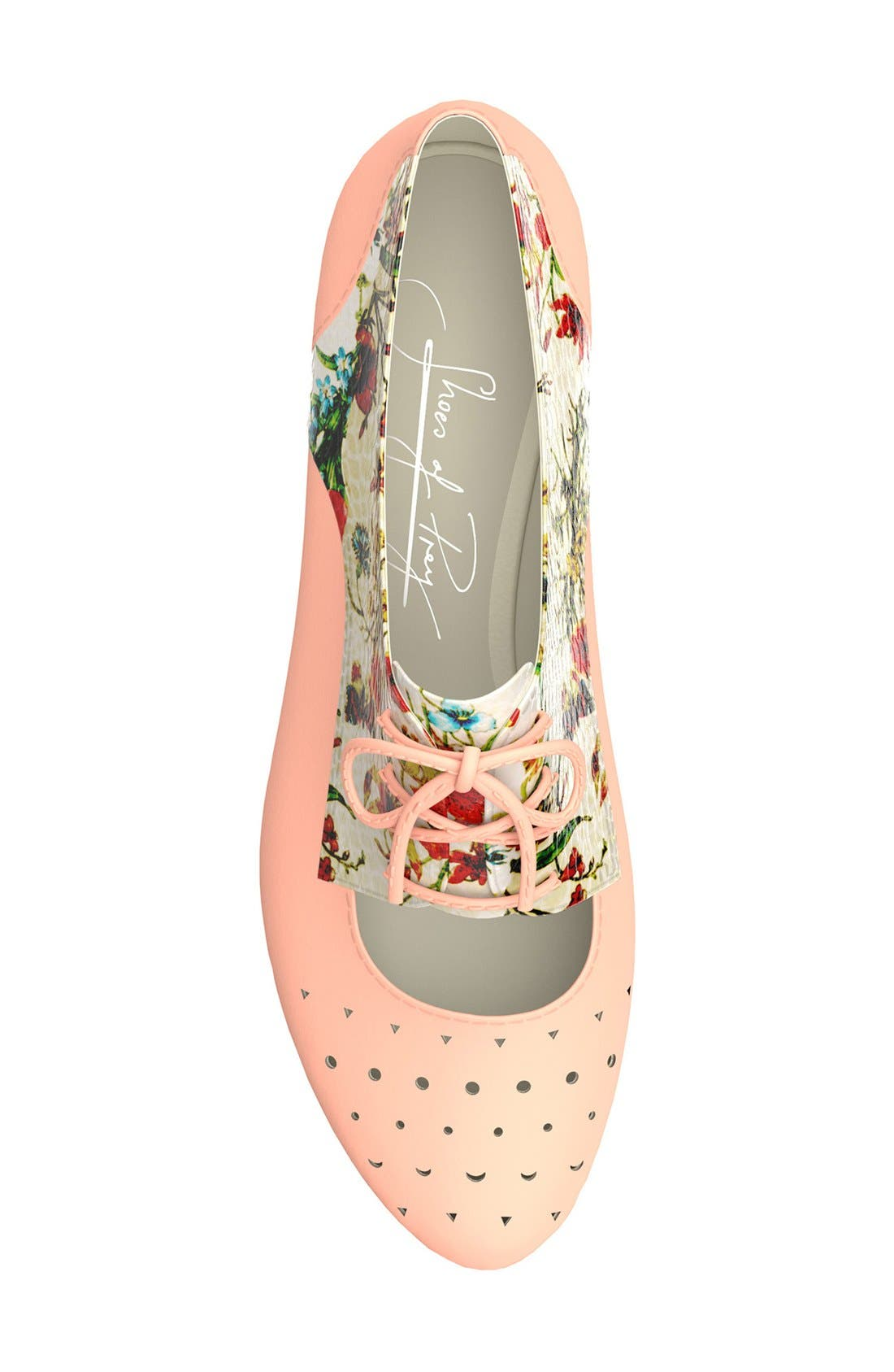 Alternate Image 2  - Shoes of Prey Floral Print Cutout Oxford (Women)