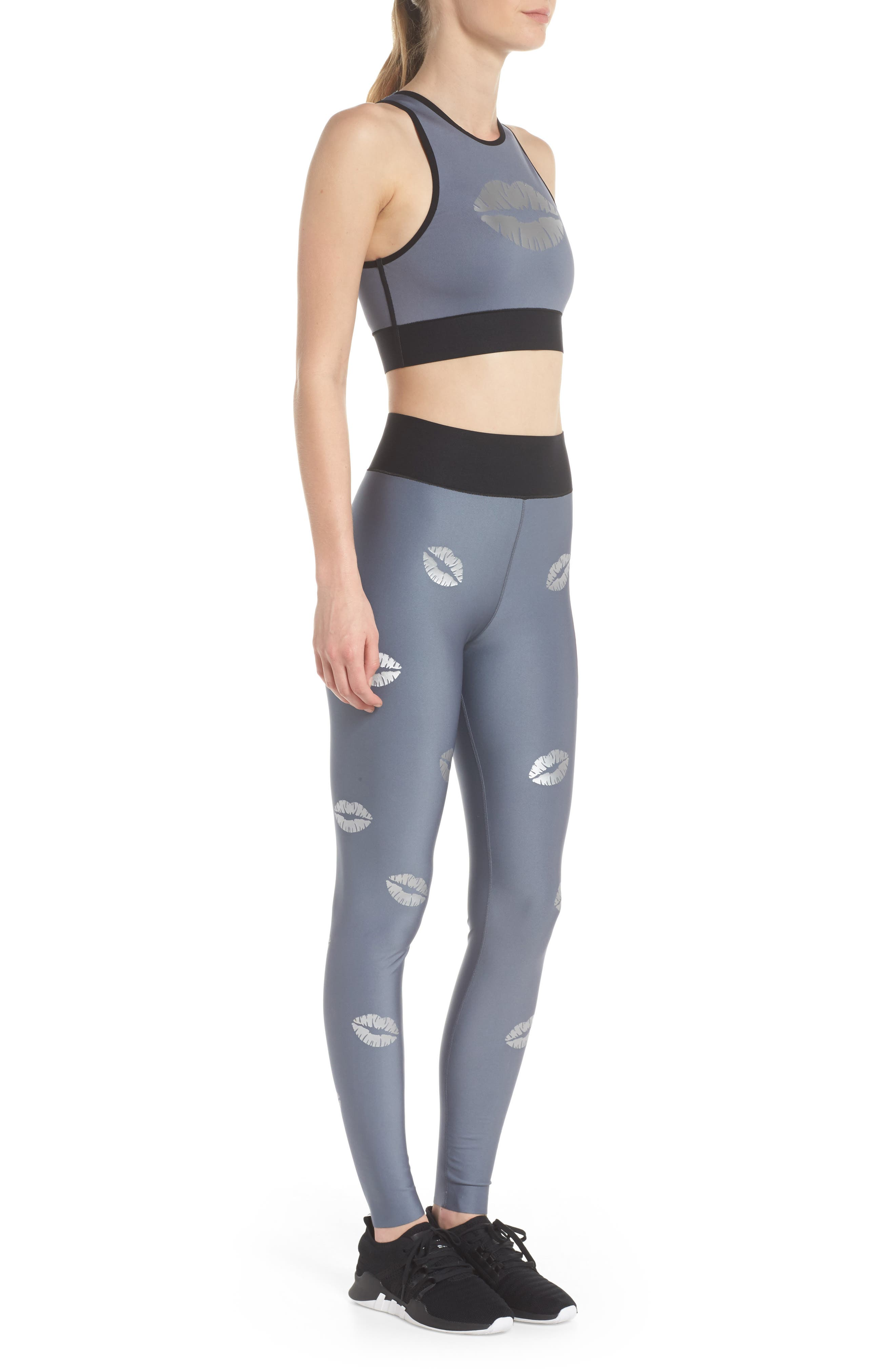 Altitude Lux Make Out Crop Top,                             Alternate thumbnail 8, color,                             Silver Brushed Steel