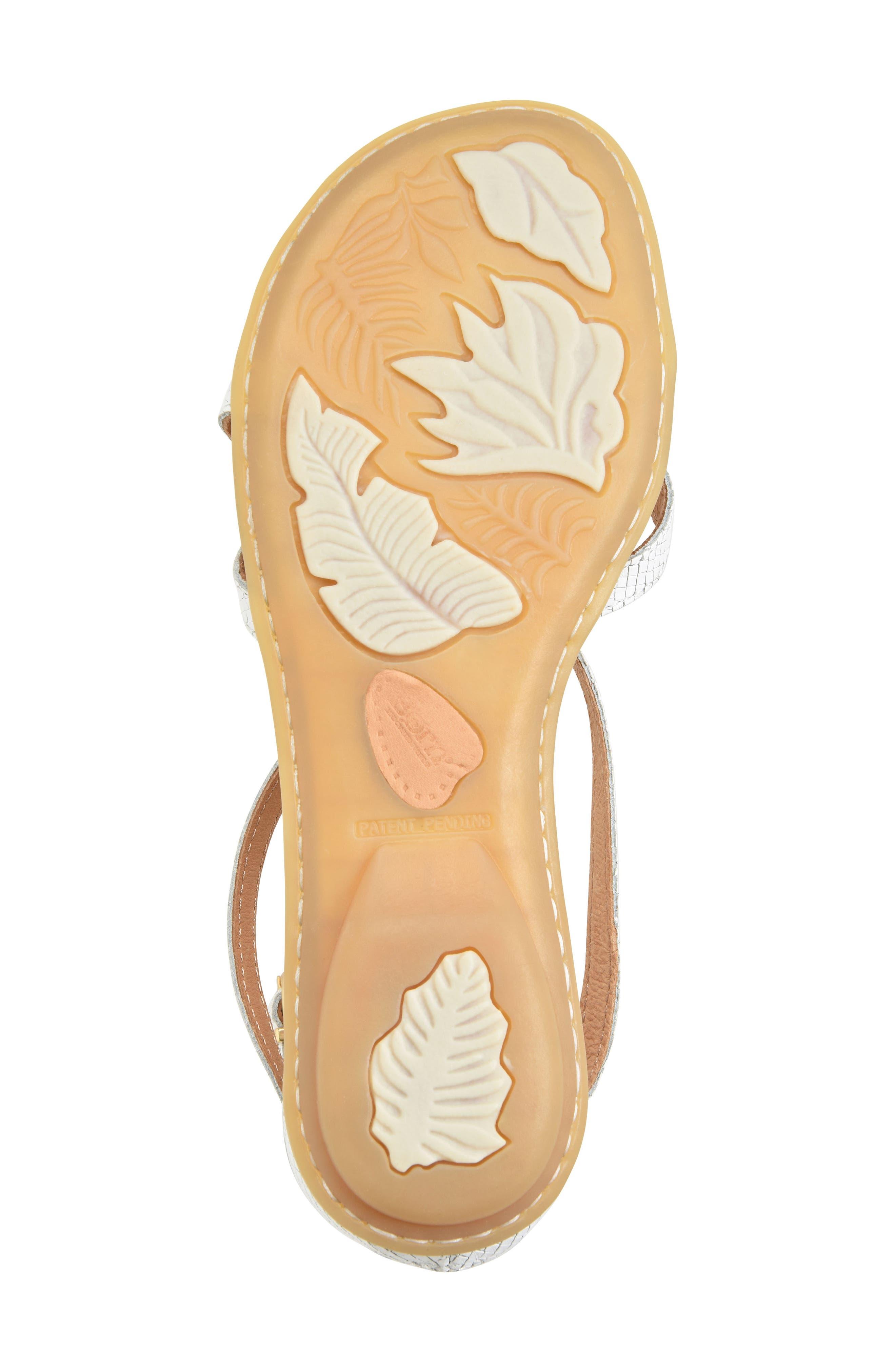 Mai Gladiator Sandal,                             Alternate thumbnail 6, color,                             White Leather