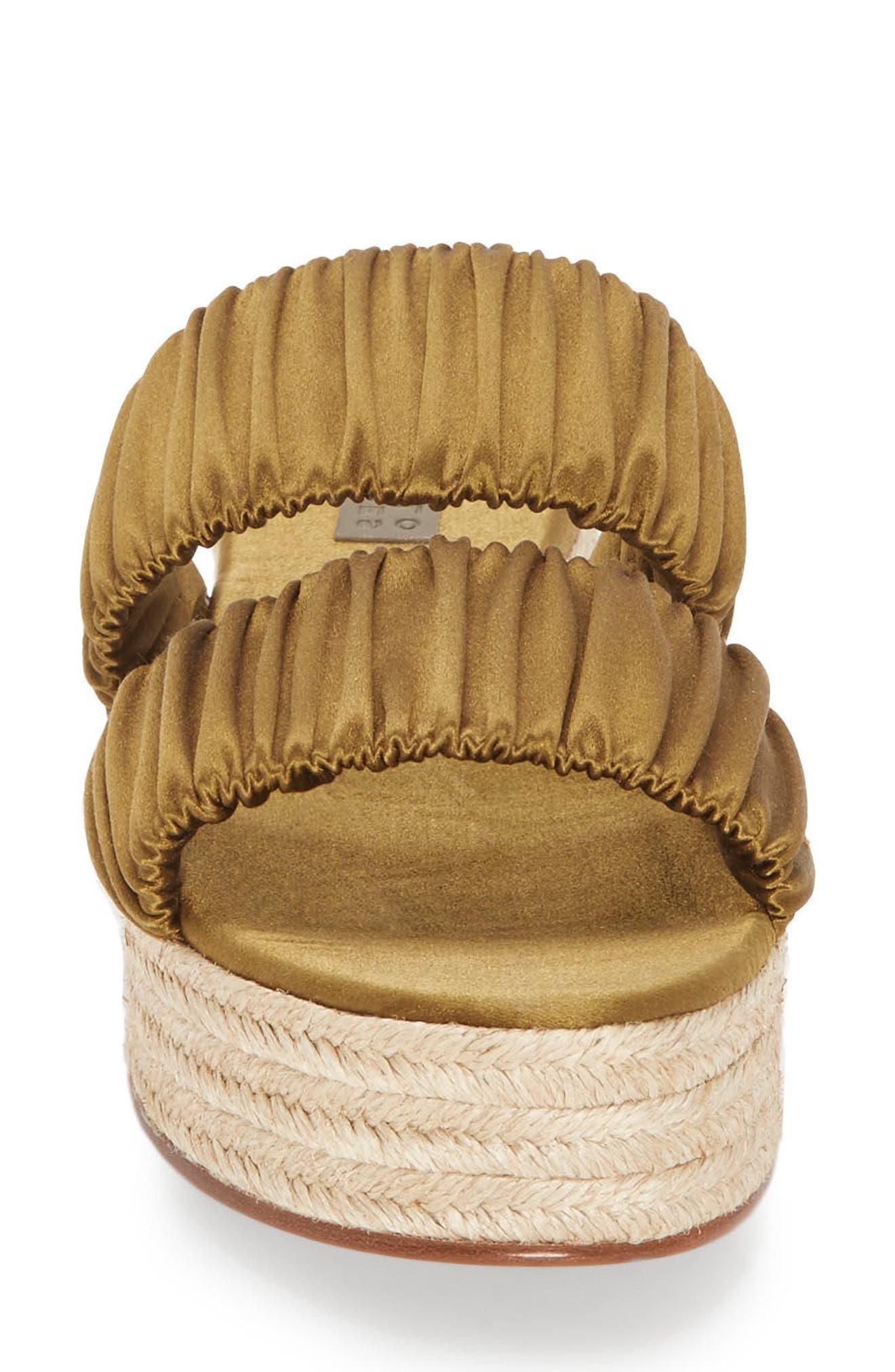 Yolanda Platform Espadrille Sandal,                             Alternate thumbnail 4, color,                             Olive