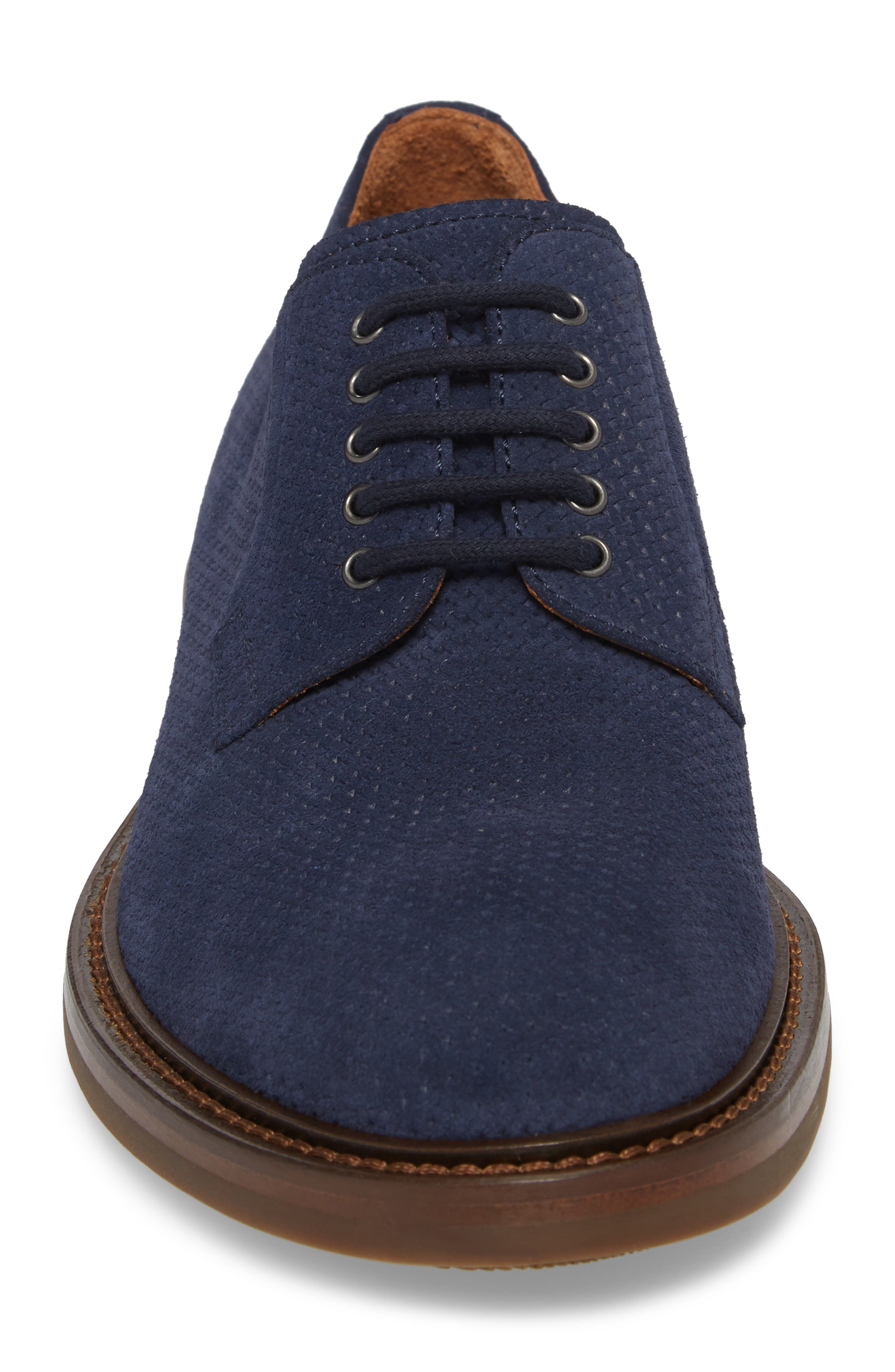 Roberto Embossed Weatherproof Oxford,                             Alternate thumbnail 4, color,                             Navy