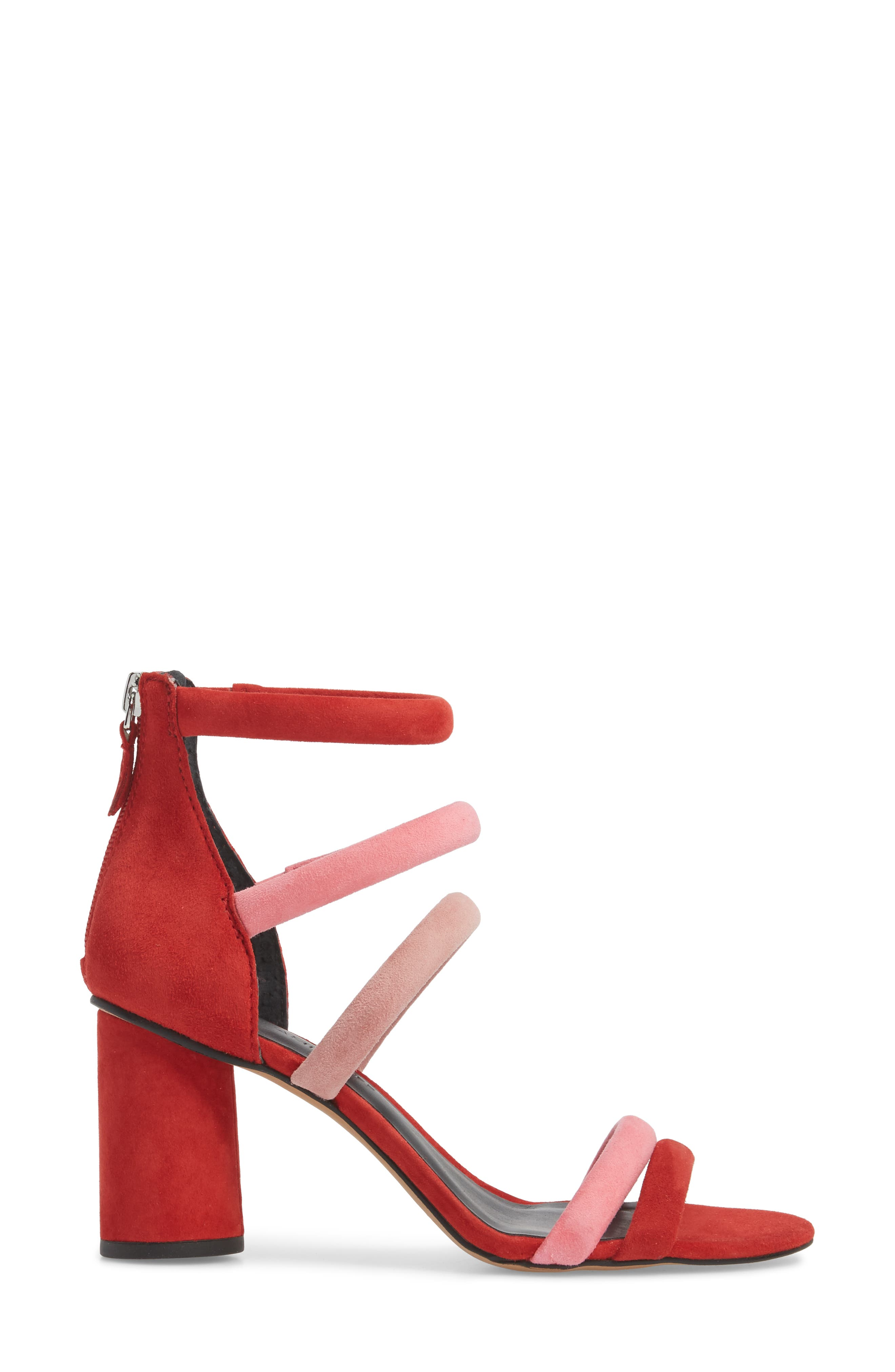 Andree Sandal,                             Alternate thumbnail 3, color,                             Cherry Suede