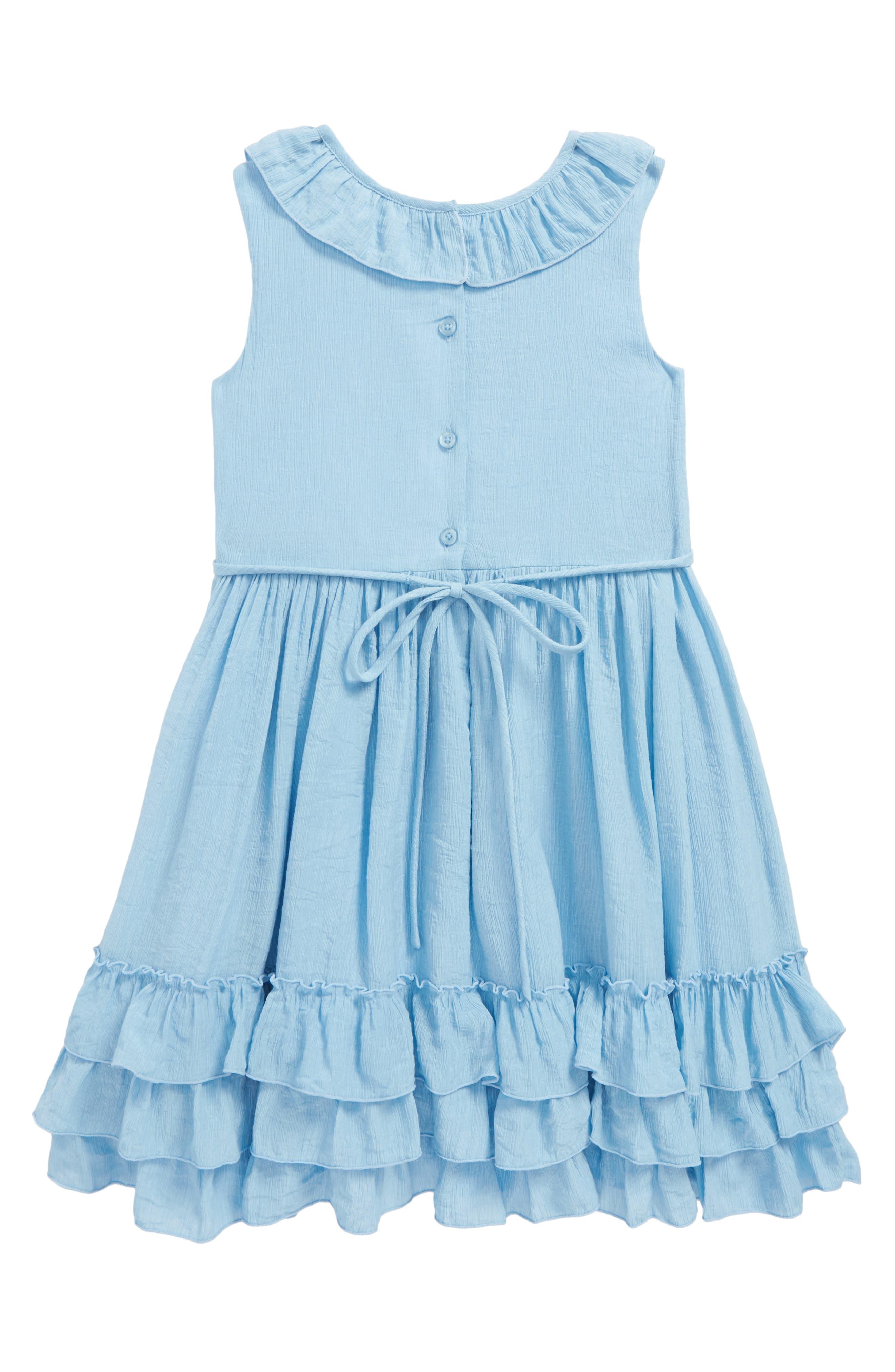 Ruffle Dress,                             Alternate thumbnail 2, color,                             Blue