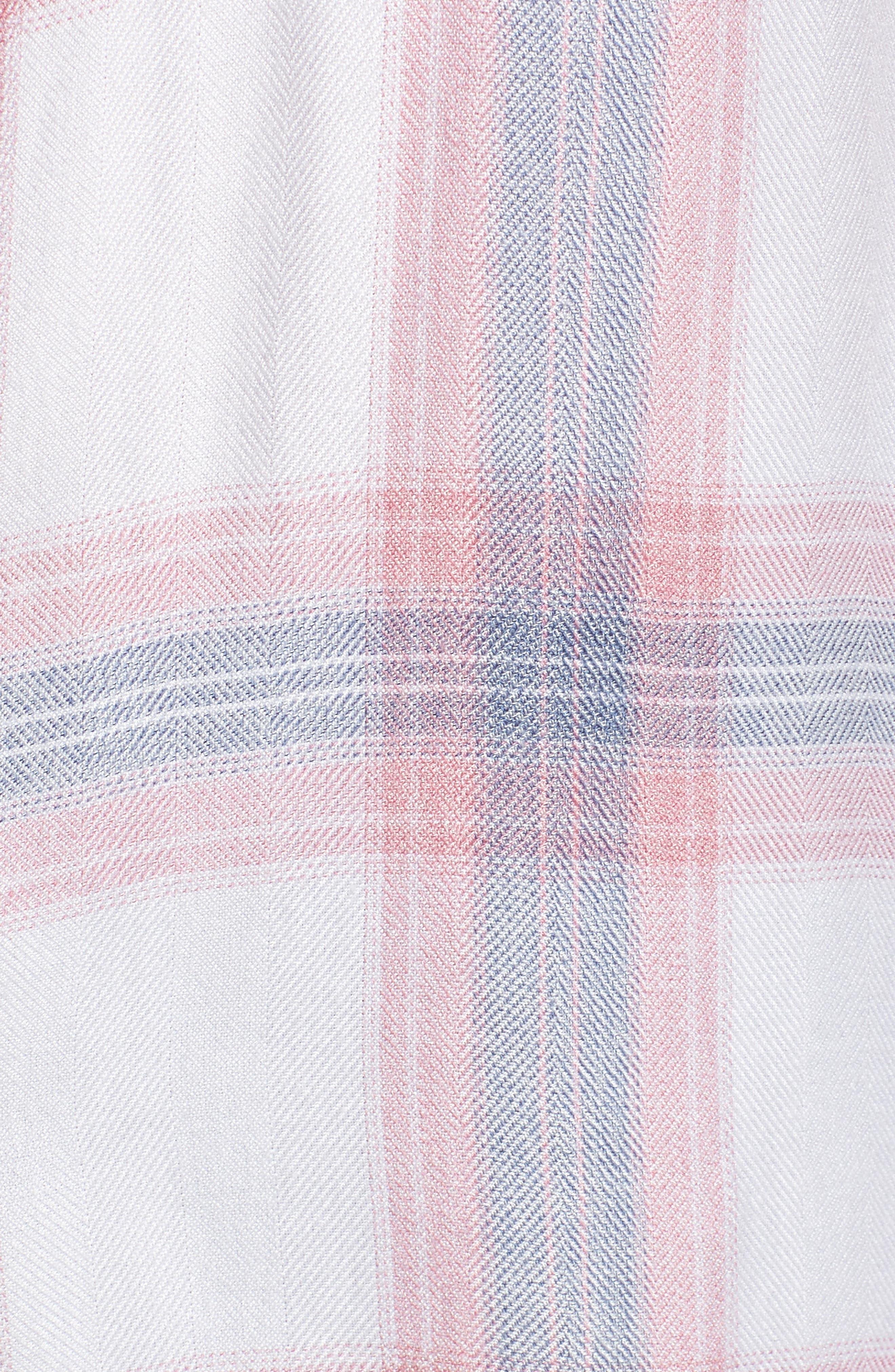 Carina Plaid Shirt,                             Alternate thumbnail 6, color,                             Red/ White Plaid