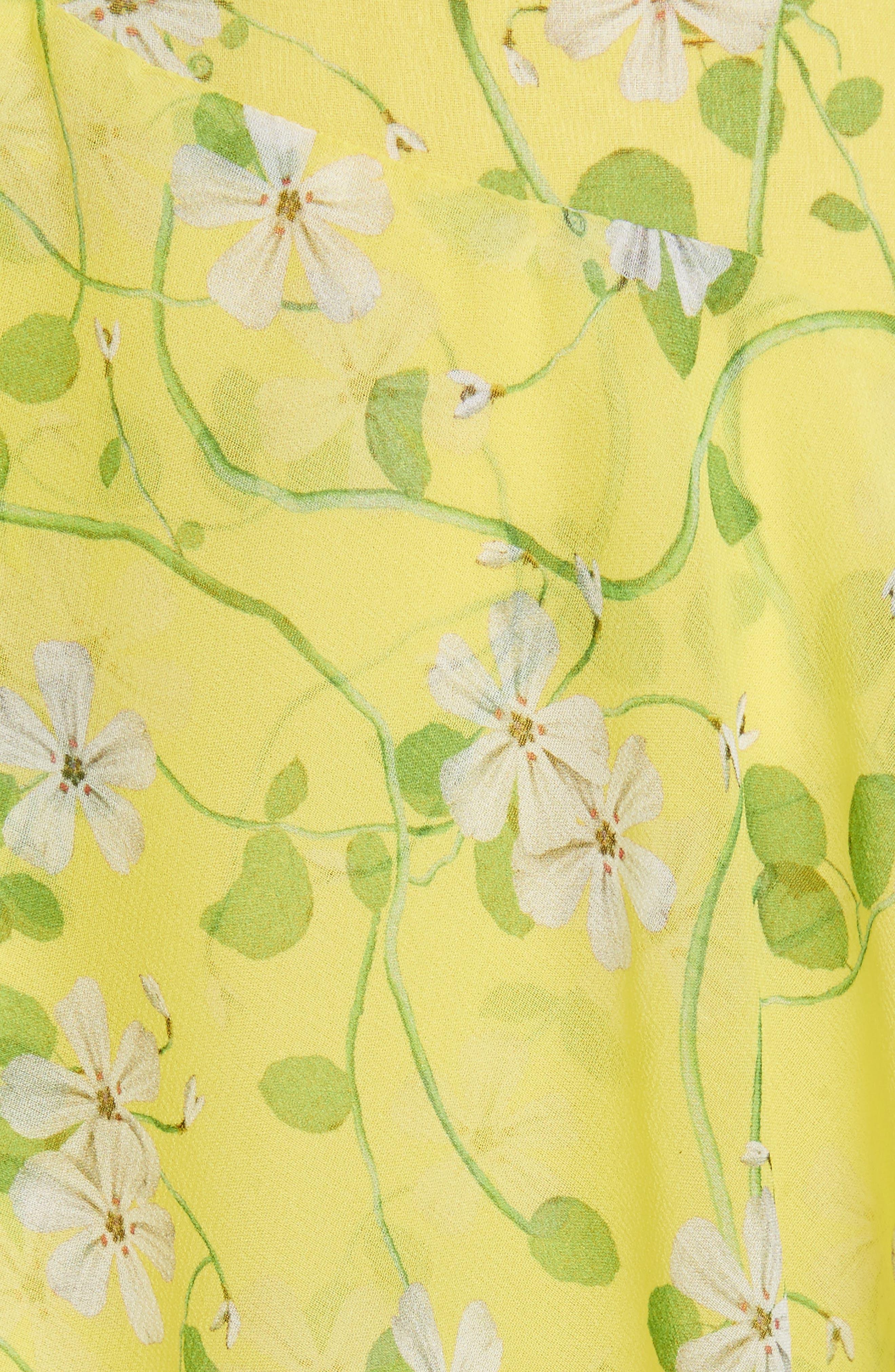 Alternate Image 5  - Alice + Olivia Olympia Asymmetrical Print Silk Dress