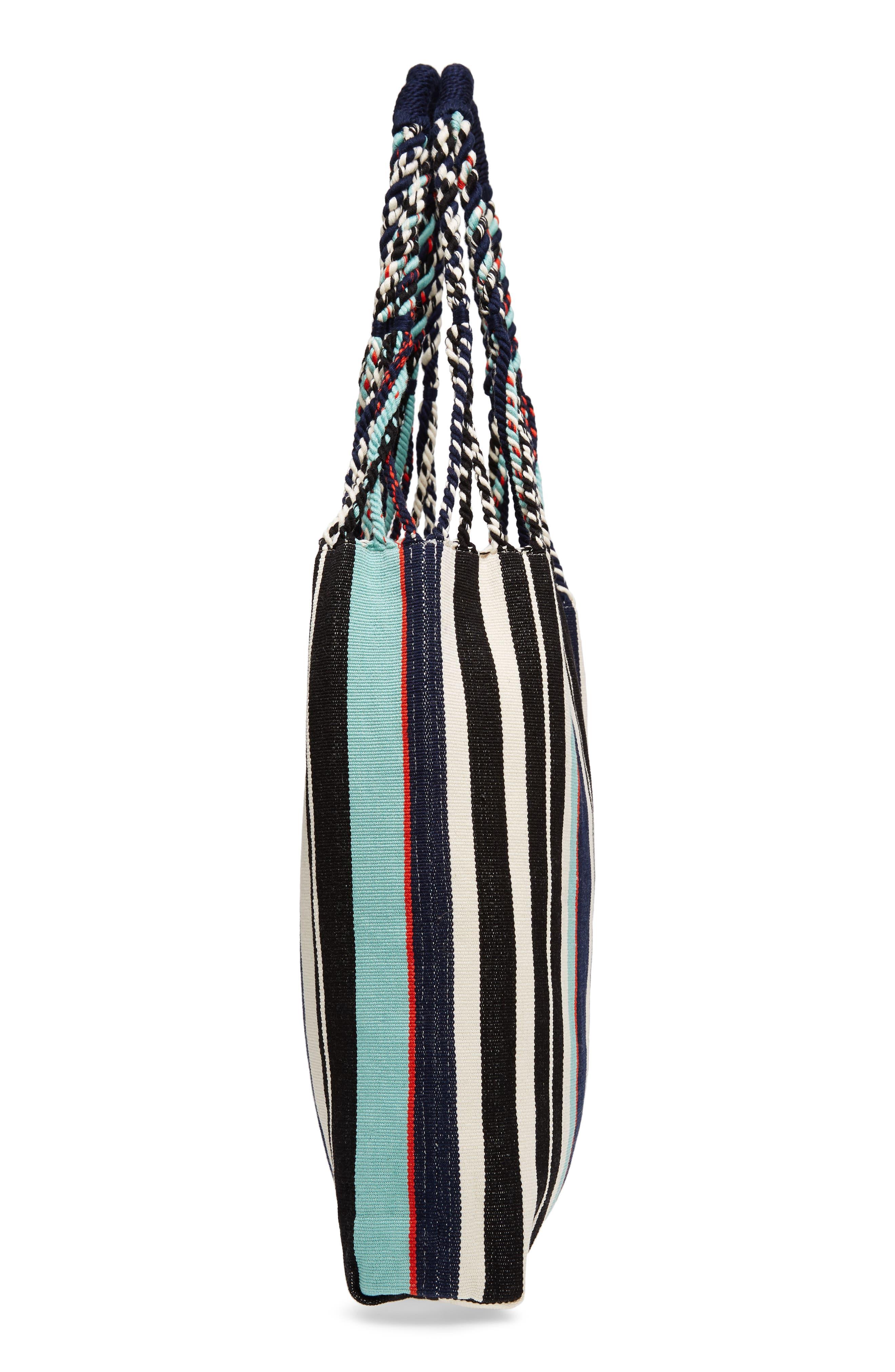 Apolonia Tote,                             Alternate thumbnail 5, color,                             Seaside Stripe