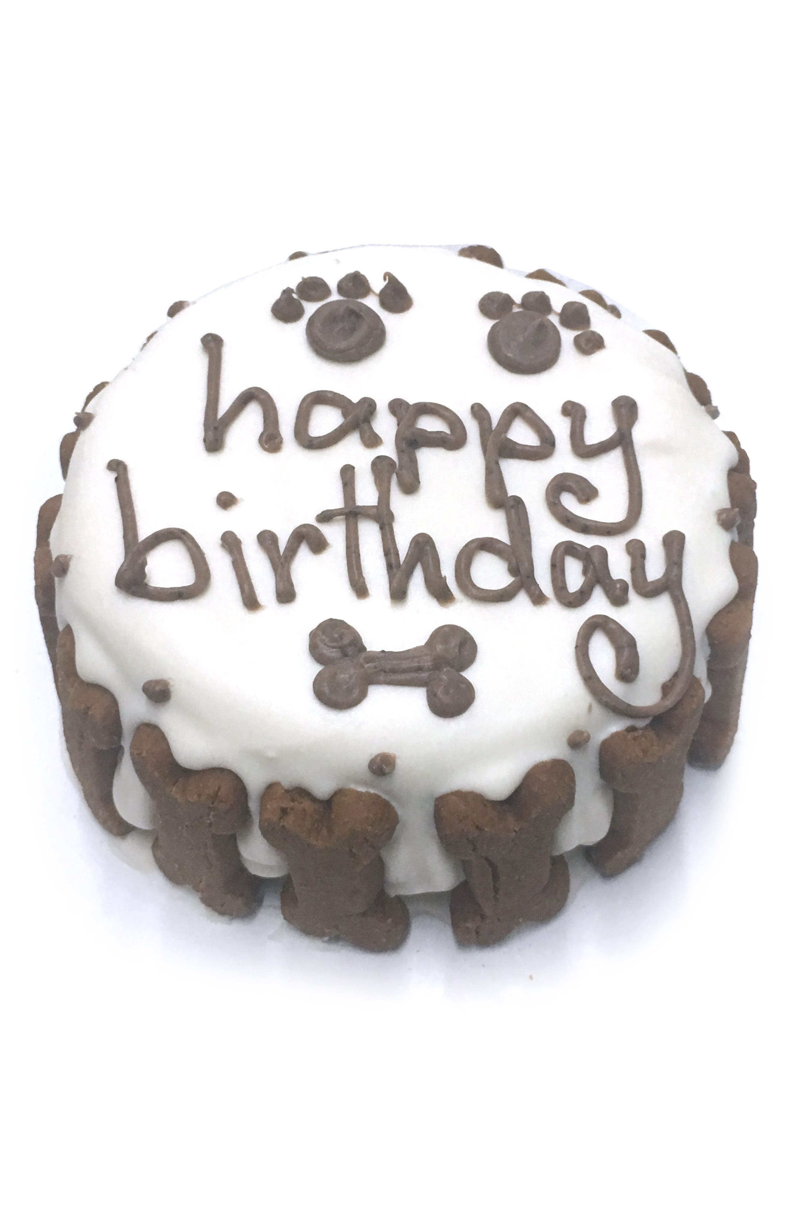 Bubba Rose Biscuit Company White Classic Birthday Cake Dog Treat