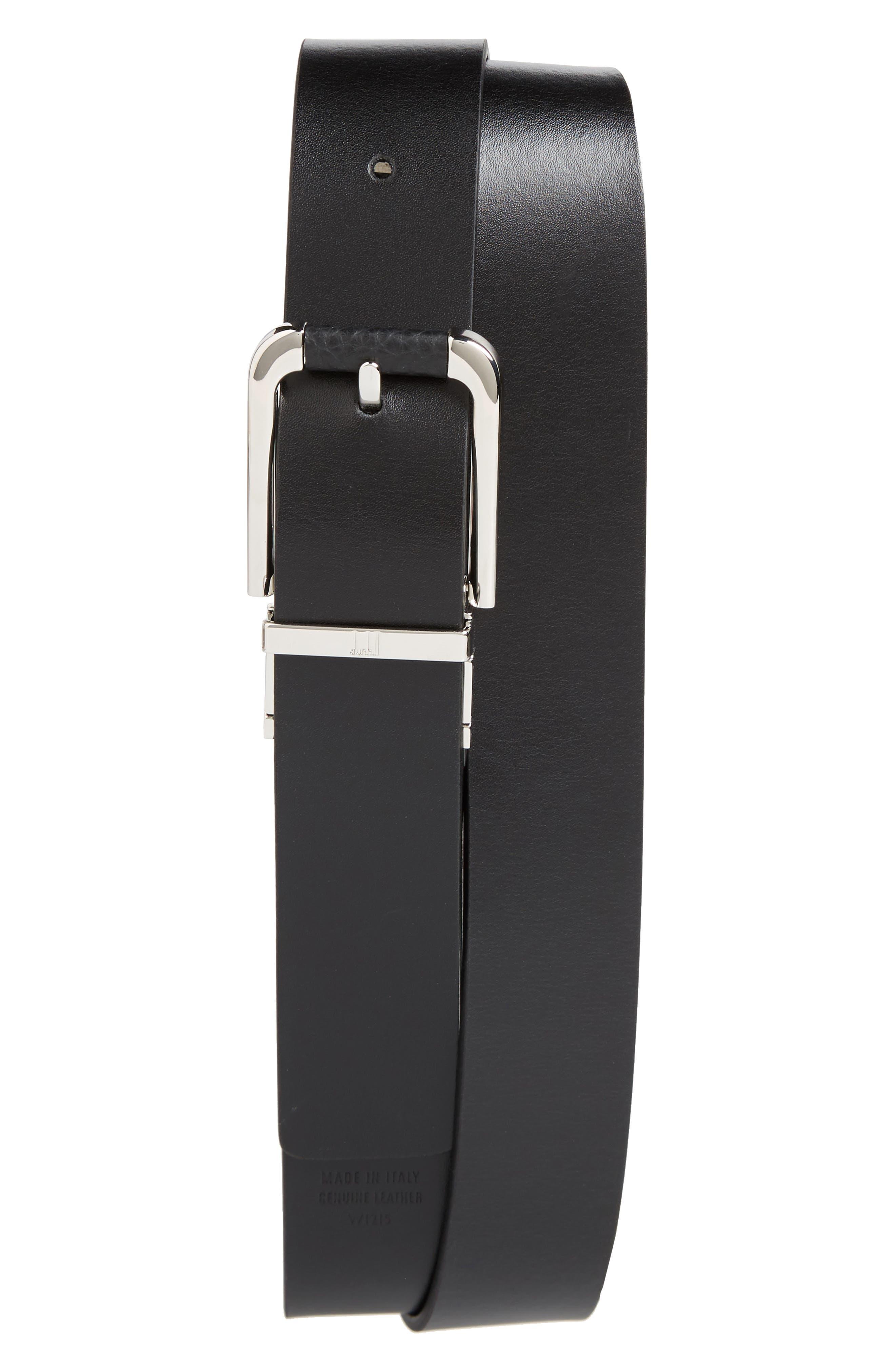 Avorities Grain Leather Belt,                             Alternate thumbnail 2, color,                             Black