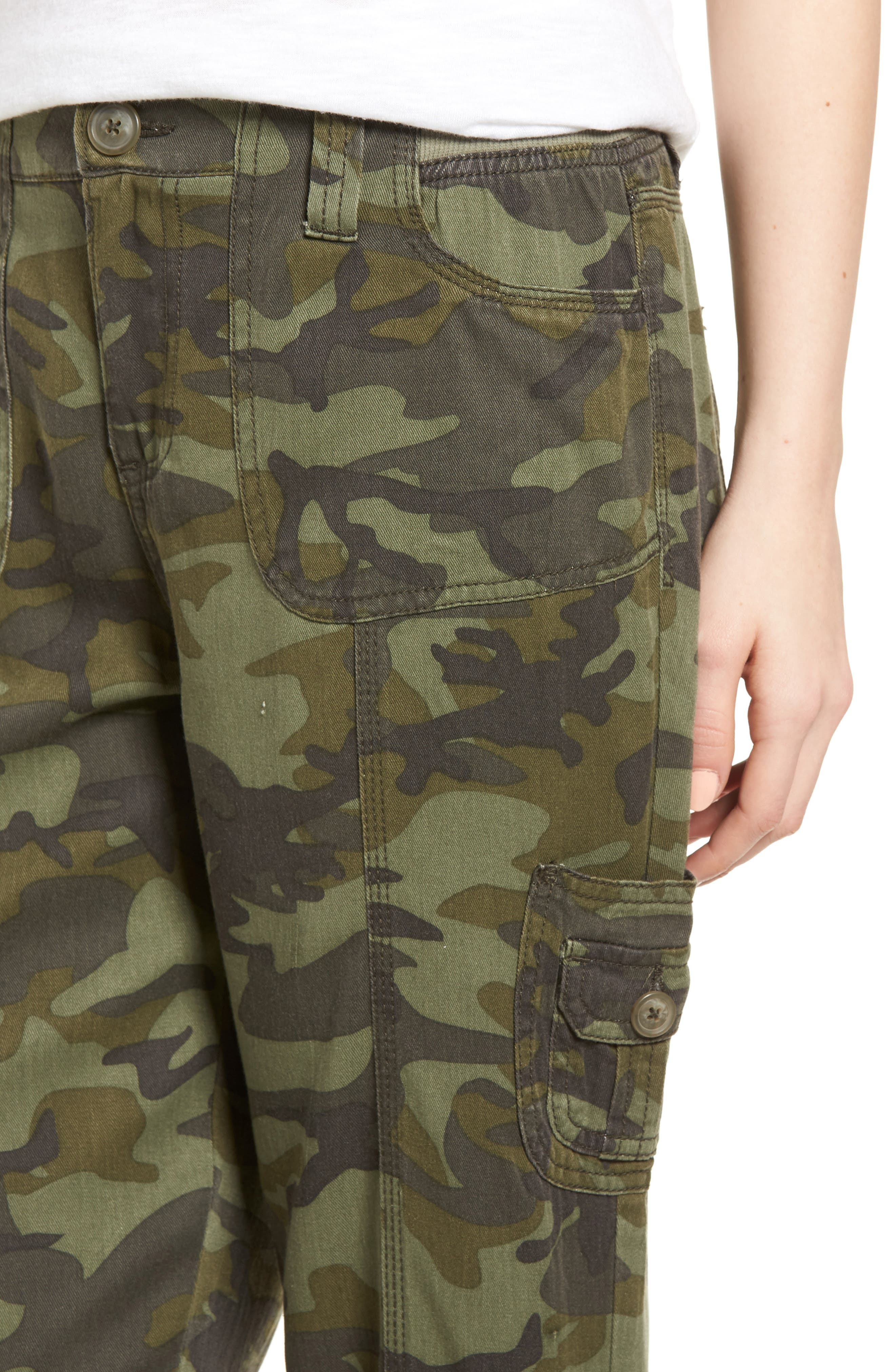 Alternate Image 4  - Love, Fire Camo Print Cargo Pants