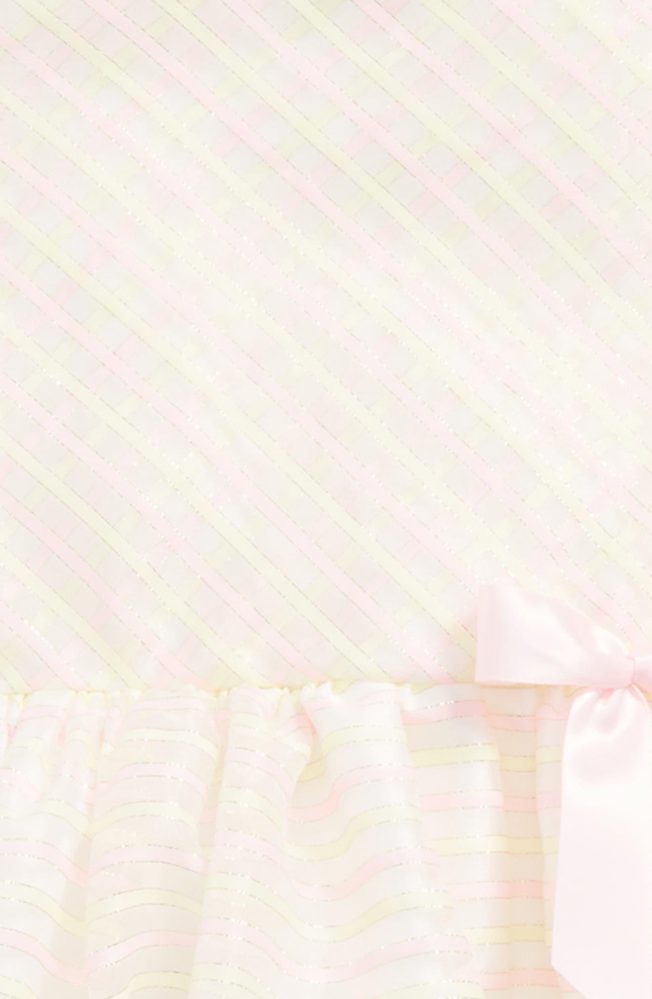 Stripe Sleeveless Dress,                             Alternate thumbnail 3, color,                             Yellow/ Pink