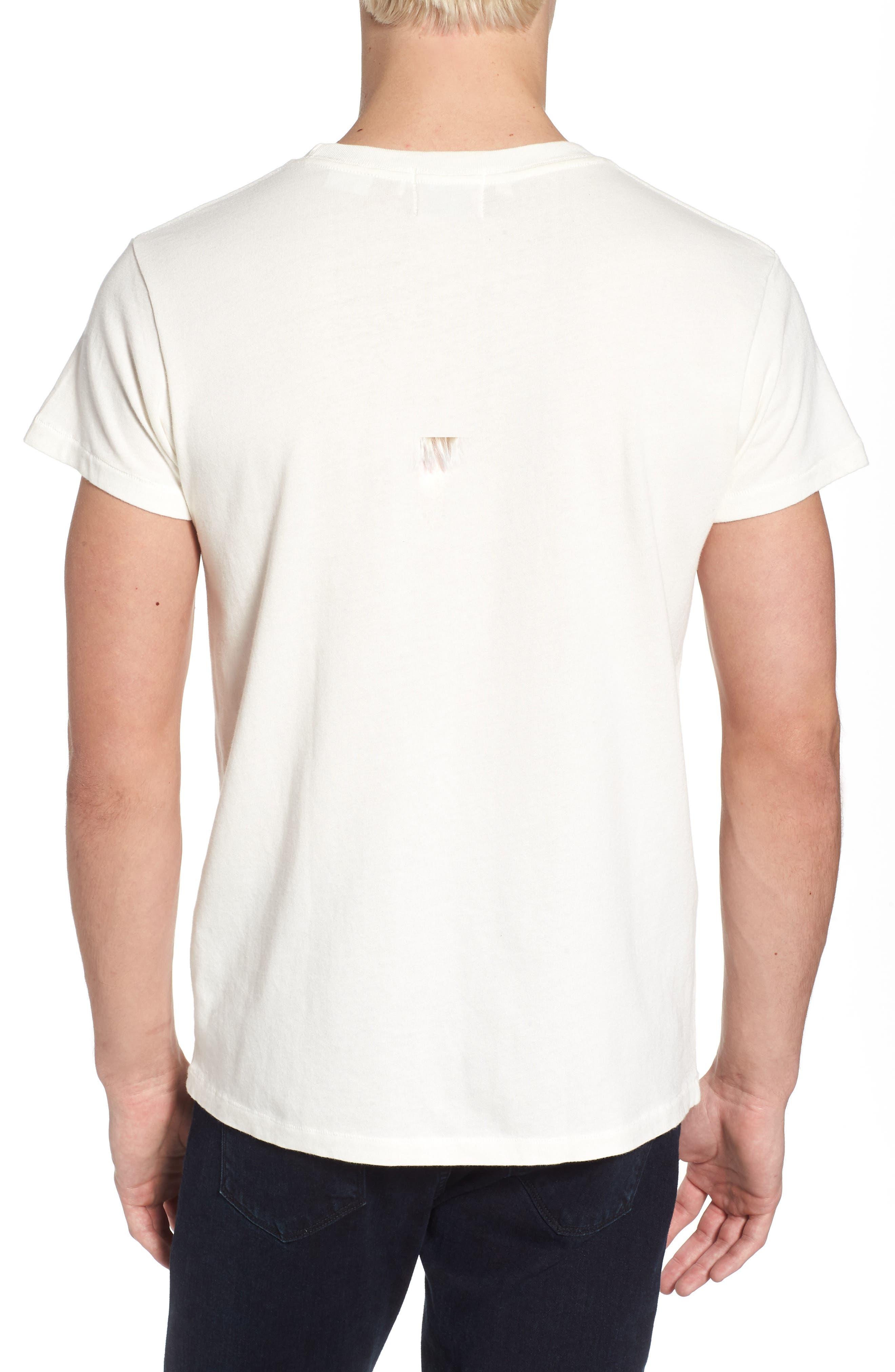 1950s Sportswear Pocket T-Shirt,                             Alternate thumbnail 2, color,                             White