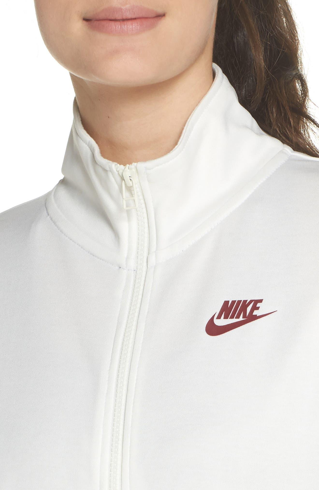 Sportswear Crop Jacket,                             Alternate thumbnail 4, color,                             Sail/ Team Red
