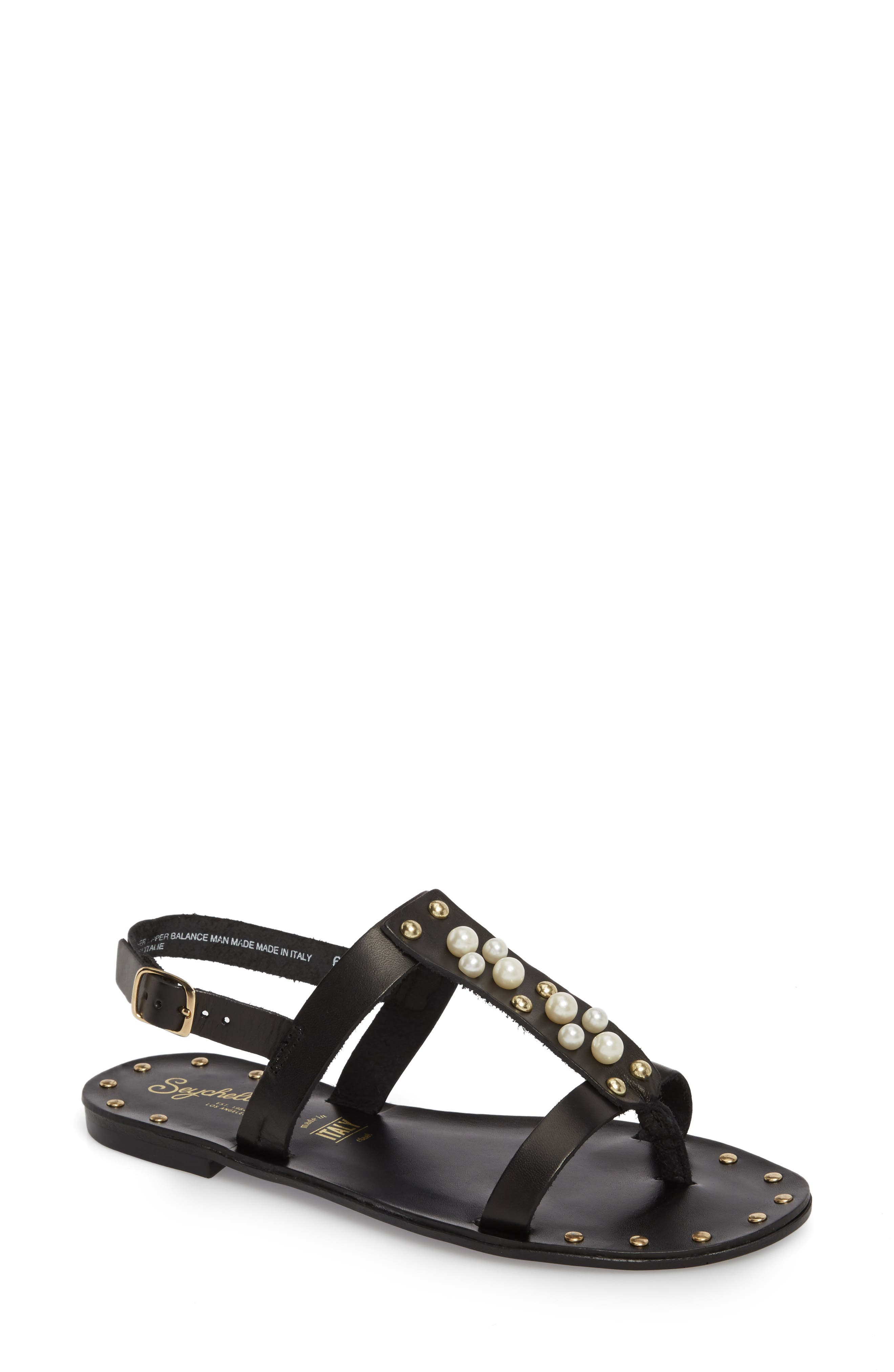 Day of Rest Sandal,                         Main,                         color, Black Leather
