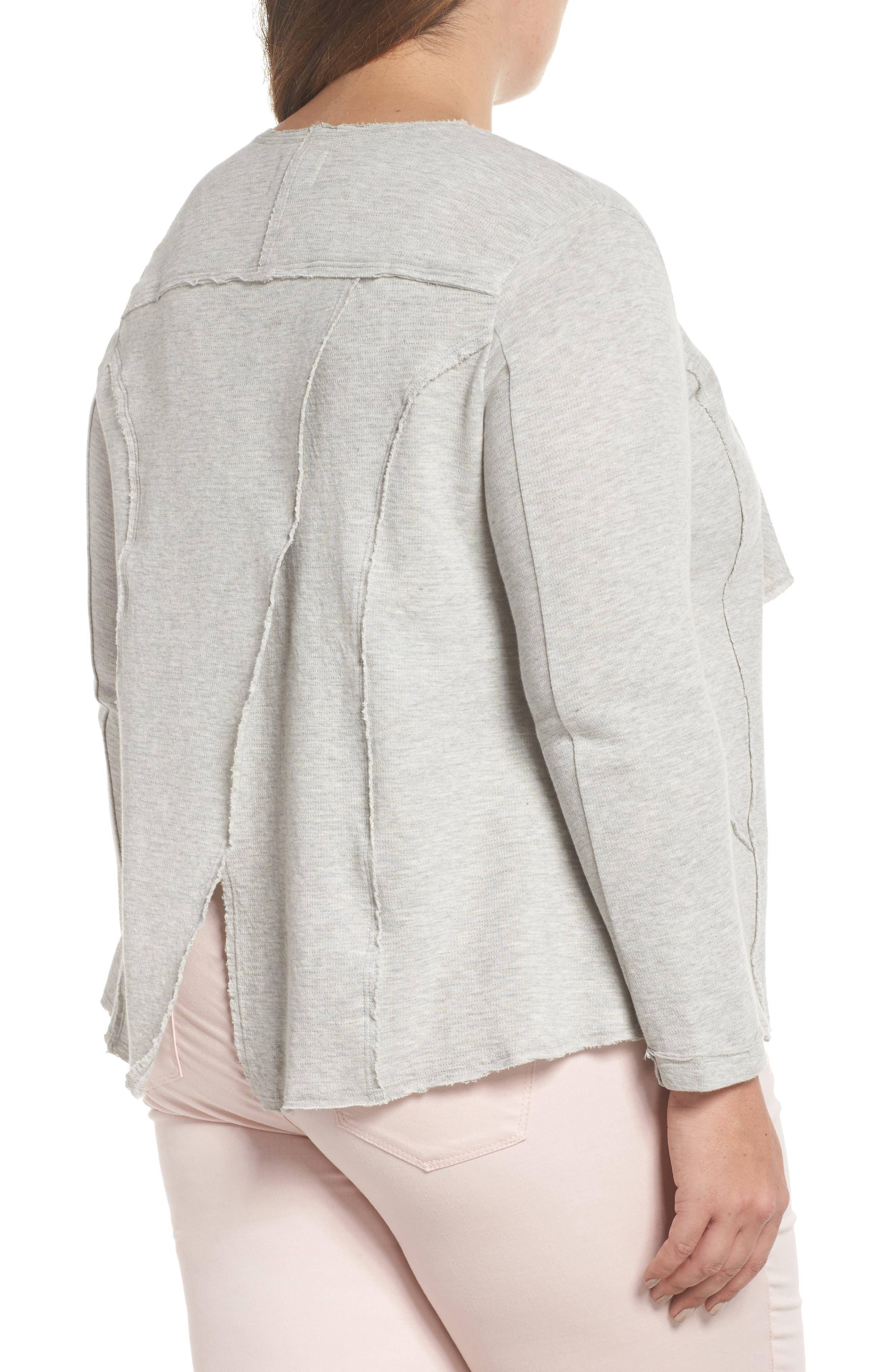 Alternate Image 2  - Caslon® Knit Drape Jacket (Plus Size)