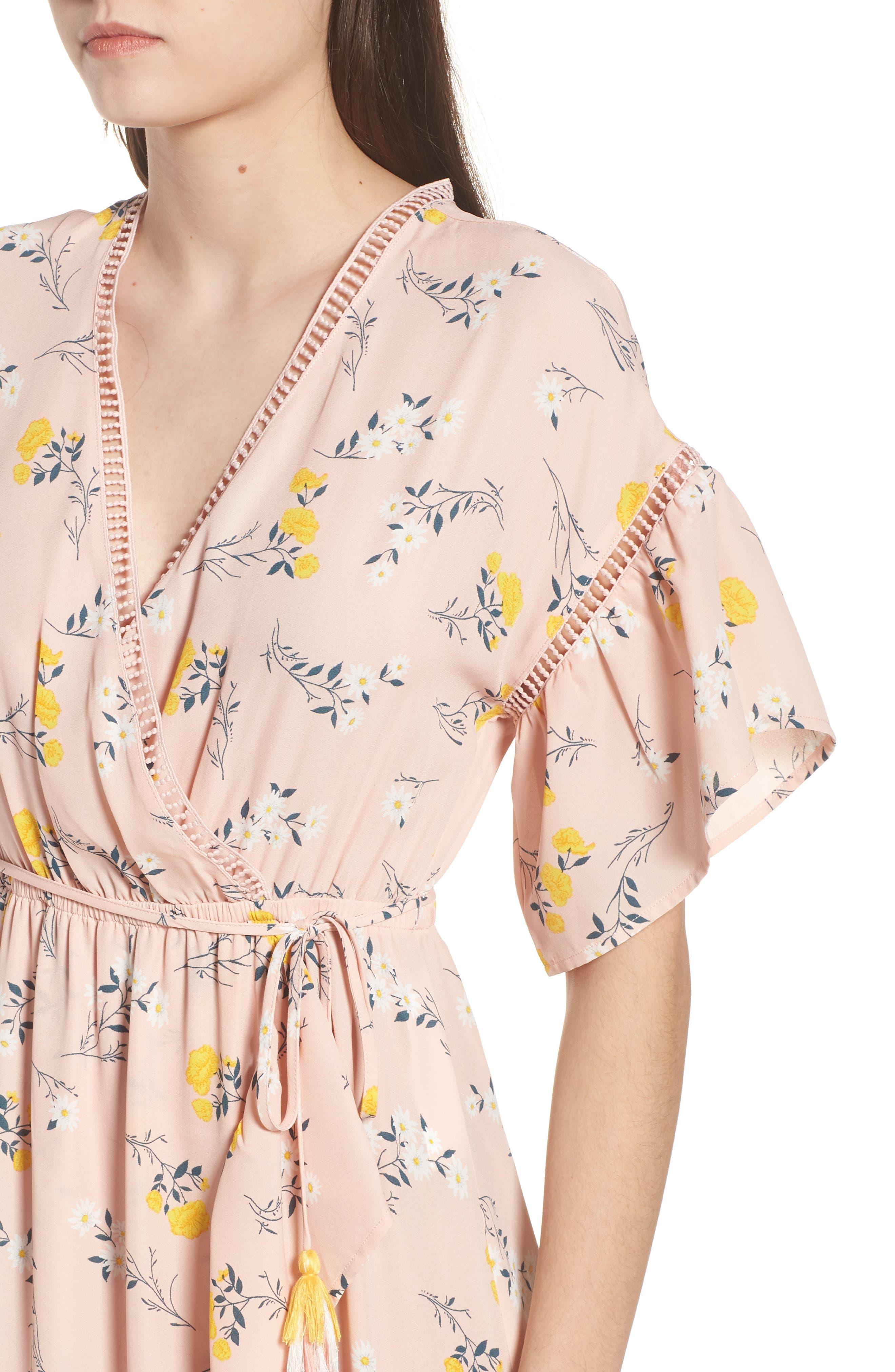 Alternate Image 4  - MOON RIVER Romance Floral Wrap Style Dress