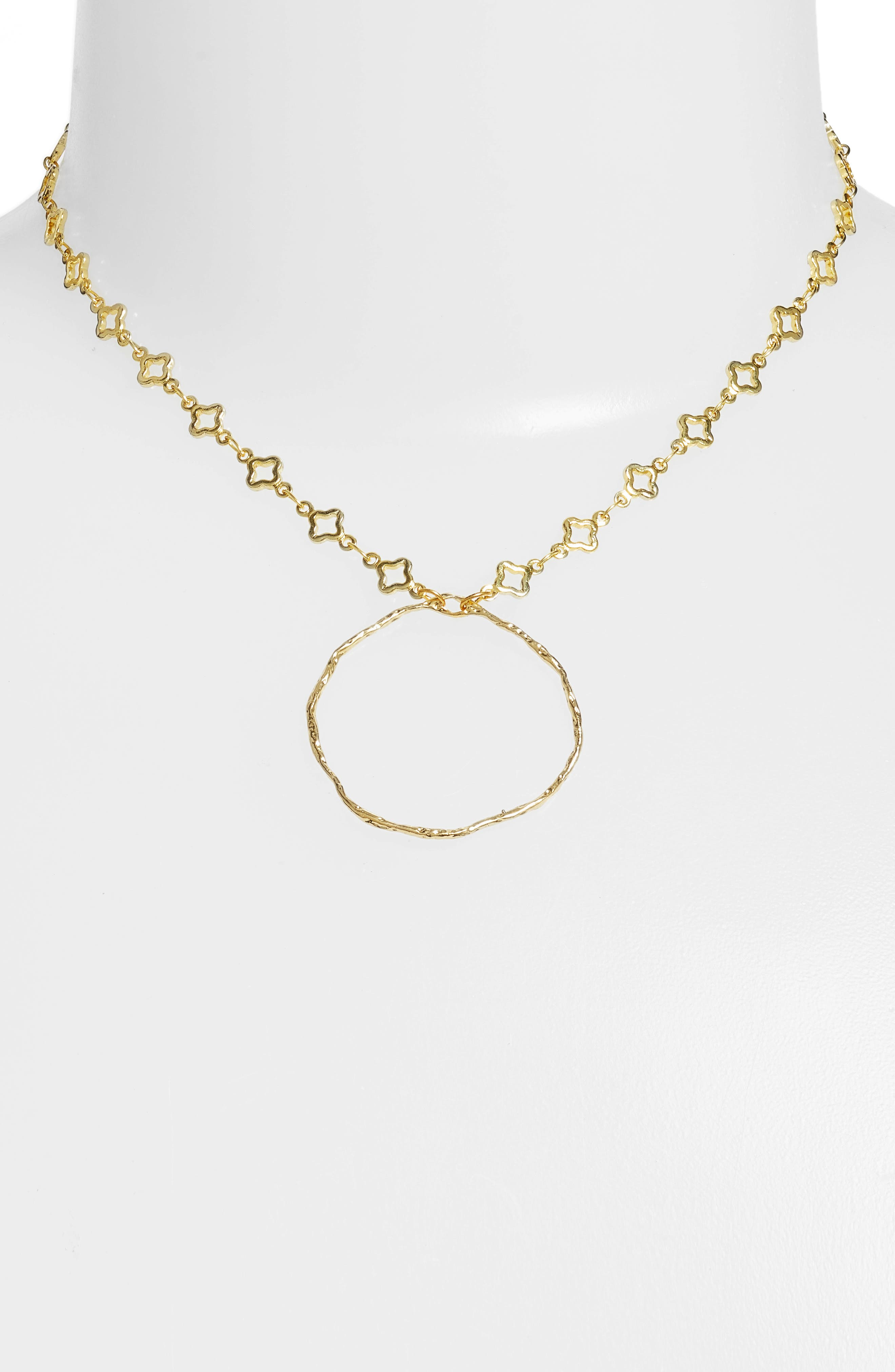 Catalan Hoop Pendant Necklace,                             Alternate thumbnail 2, color,                             Gold