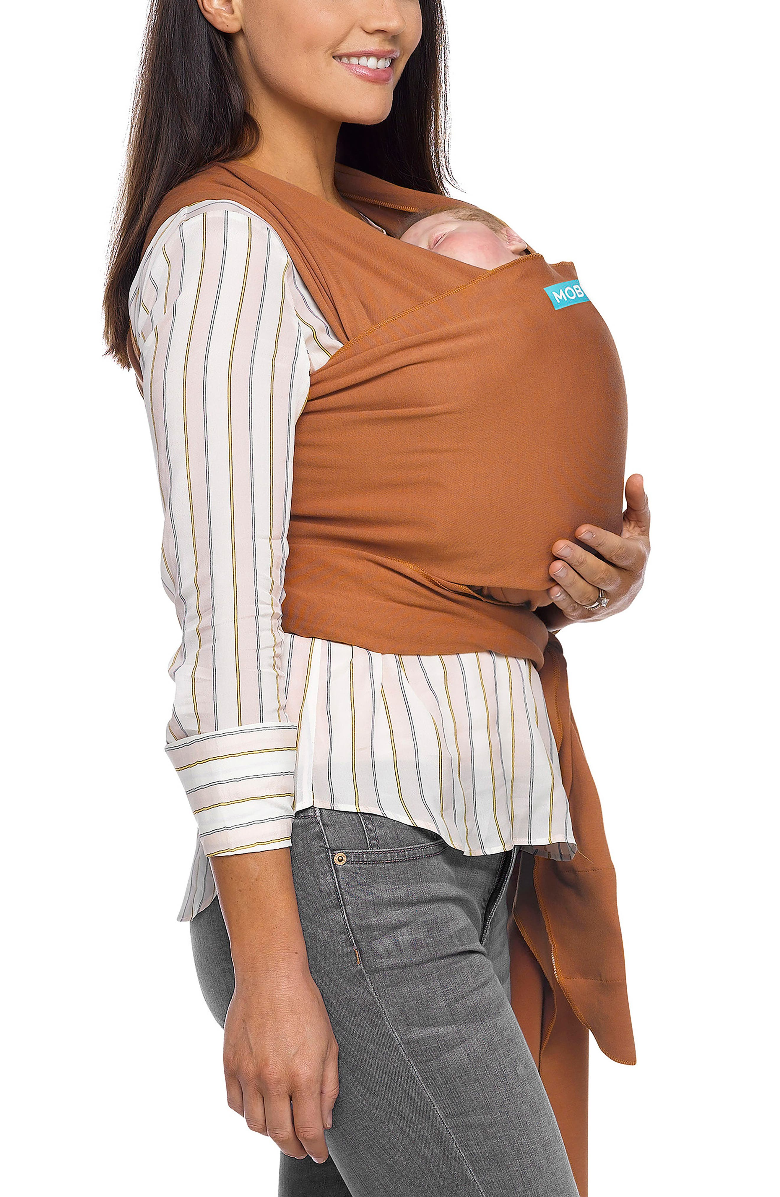 Wrap Baby Carrier,                             Alternate thumbnail 4, color,                             Caramel