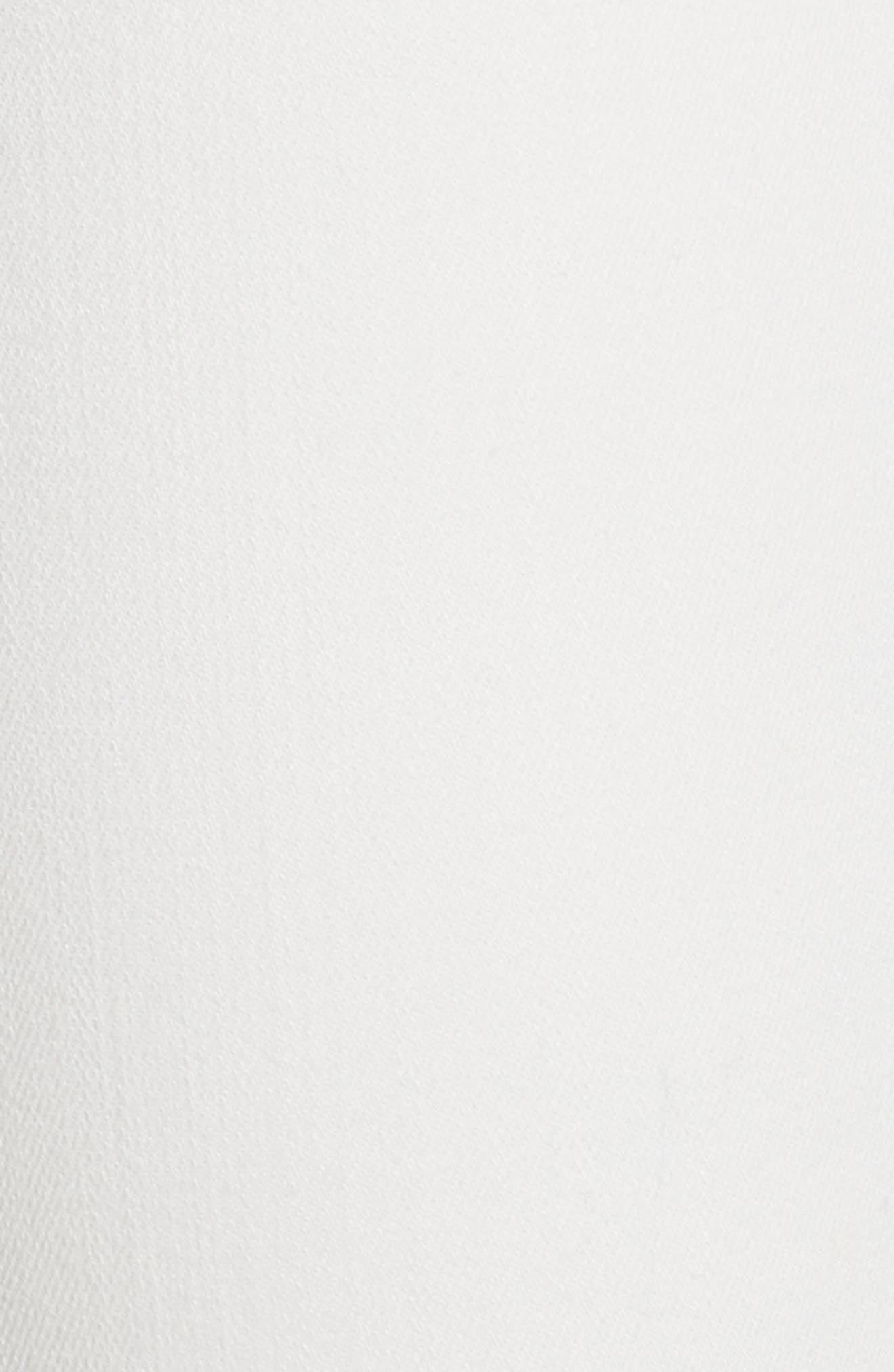 AO.LA Zoe Ruffle Hem Crop Jeans,                             Alternate thumbnail 5, color,                             White