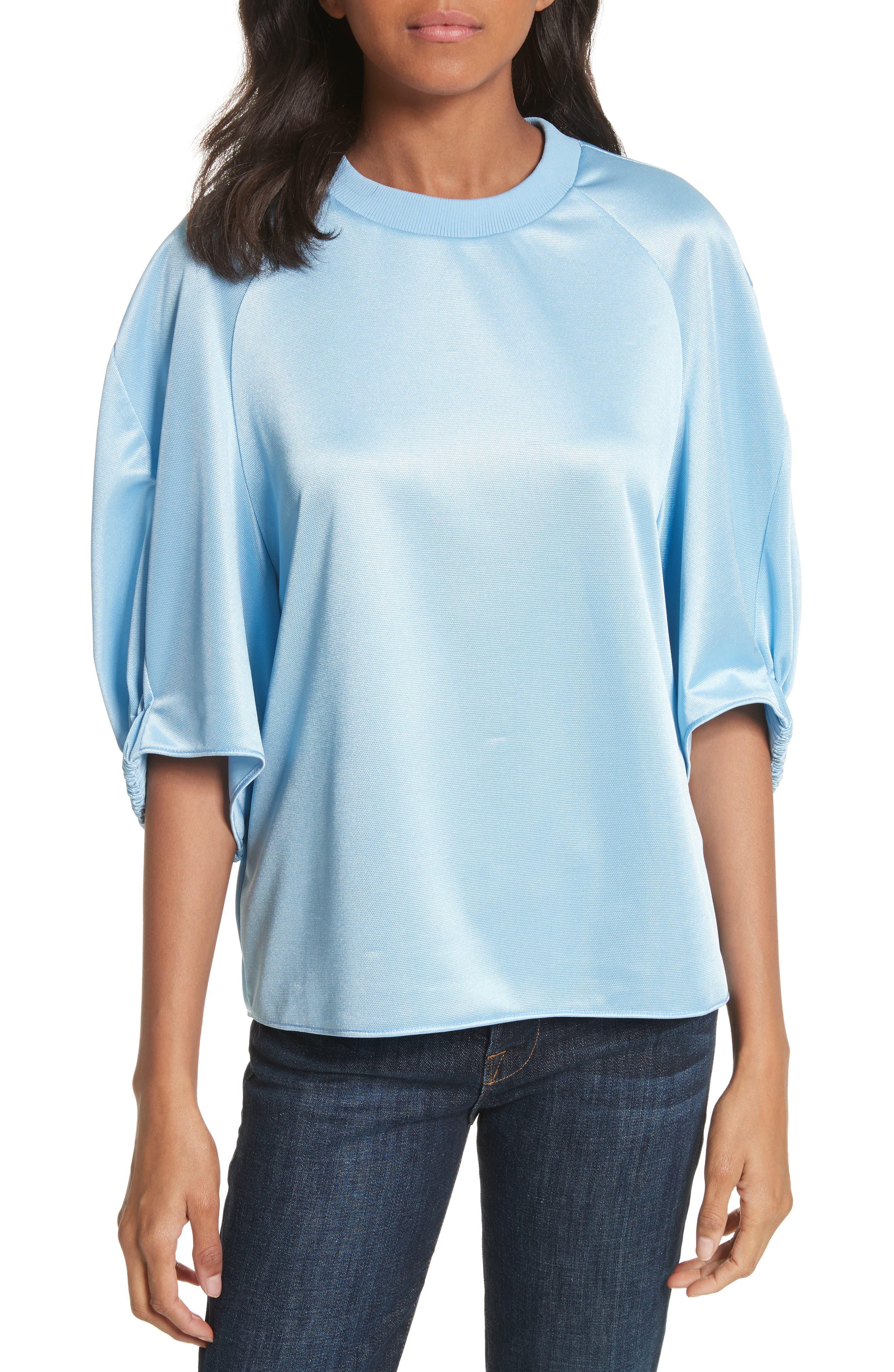 Dolman Sleeve Top,                         Main,                         color, Oxford Blue