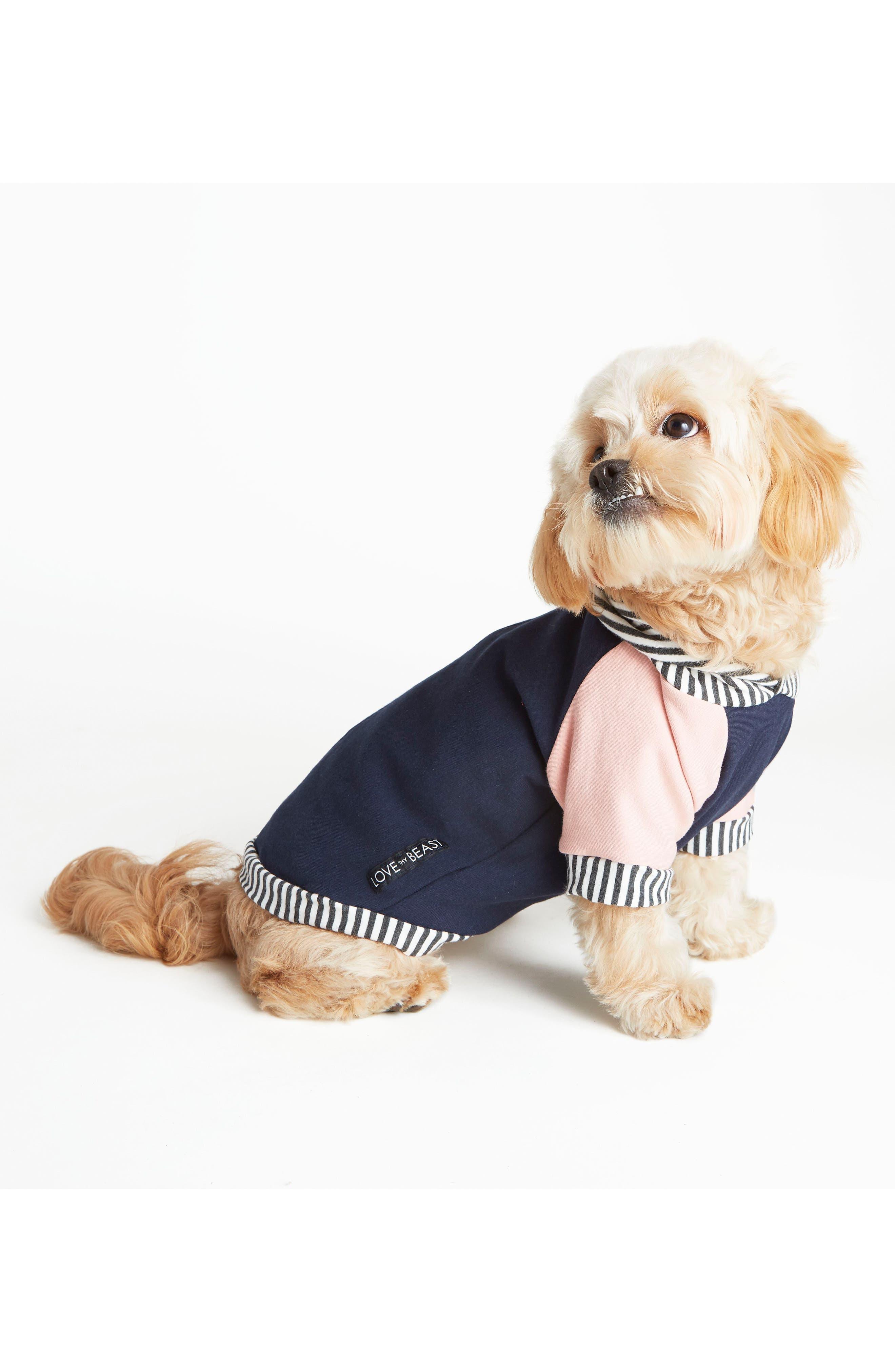 Fleece Dog Hoodie,                         Main,                         color, Navy