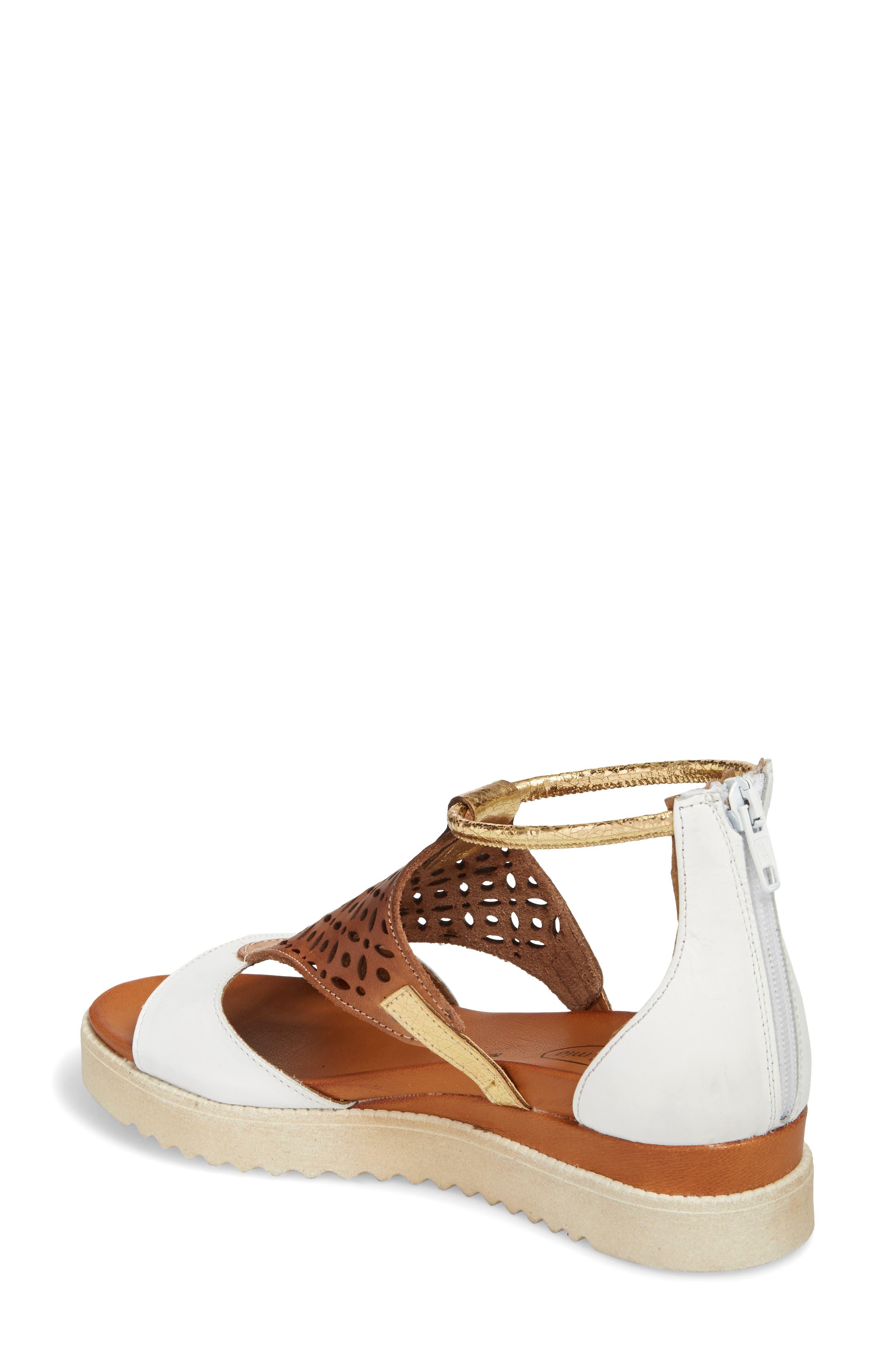 Blaze Sandal,                             Alternate thumbnail 2, color,                             White Combo Leather