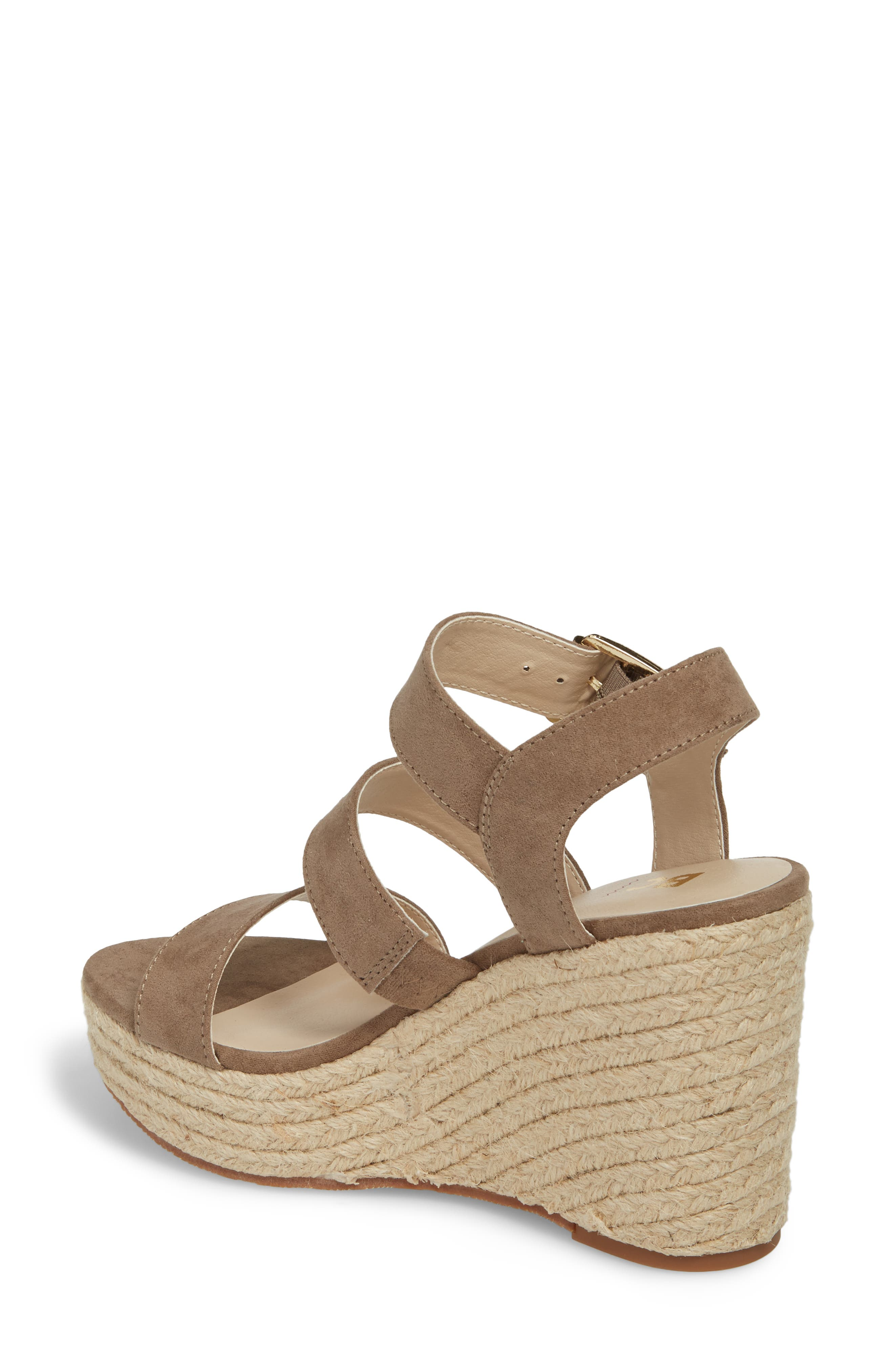 Snack Bar Espadrille Wedge Sandal,                             Alternate thumbnail 2, color,                             Taupe Suede