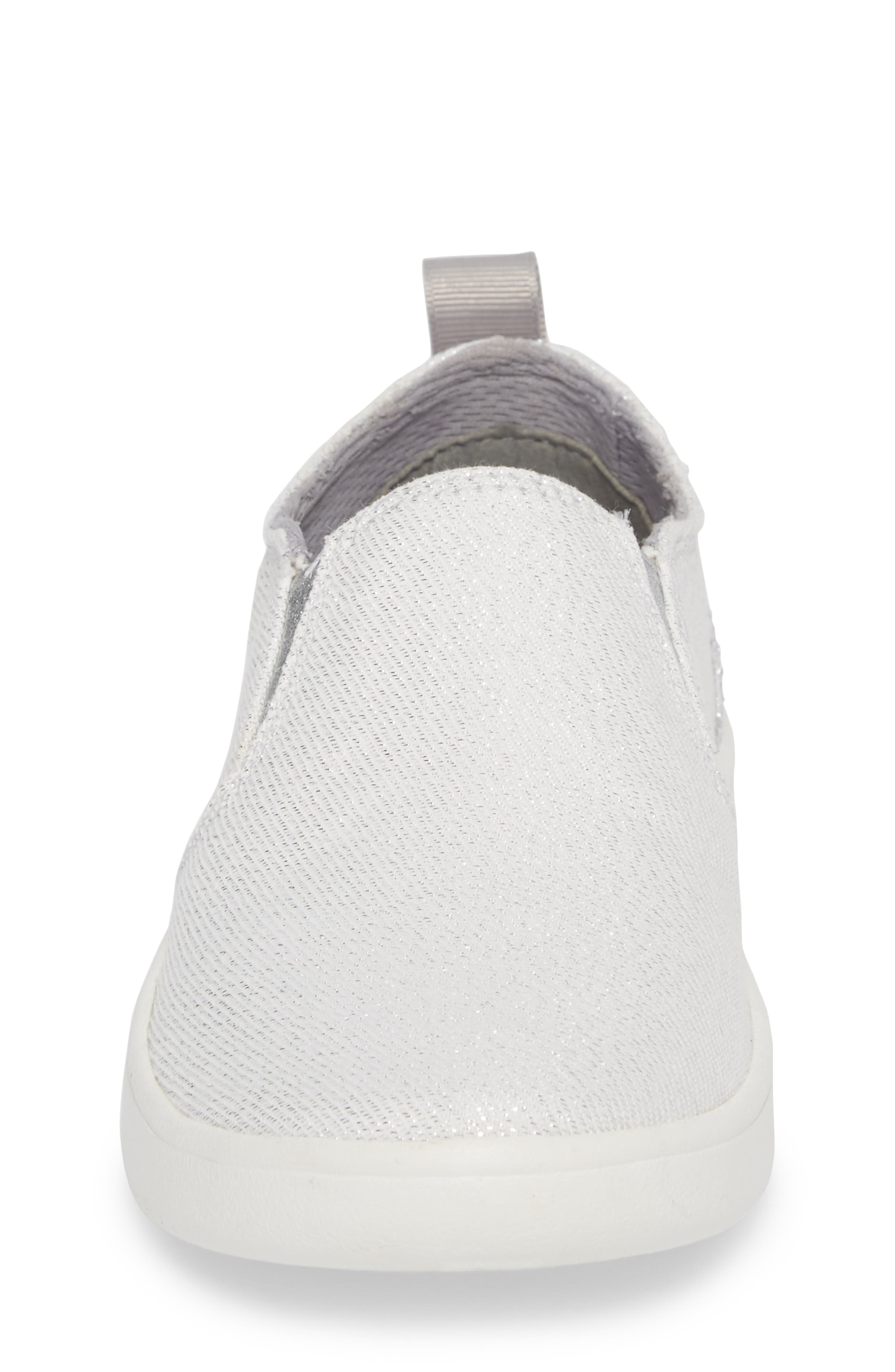 Gantry Sparkles Slip-On Sneaker,                             Alternate thumbnail 4, color,                             Silver