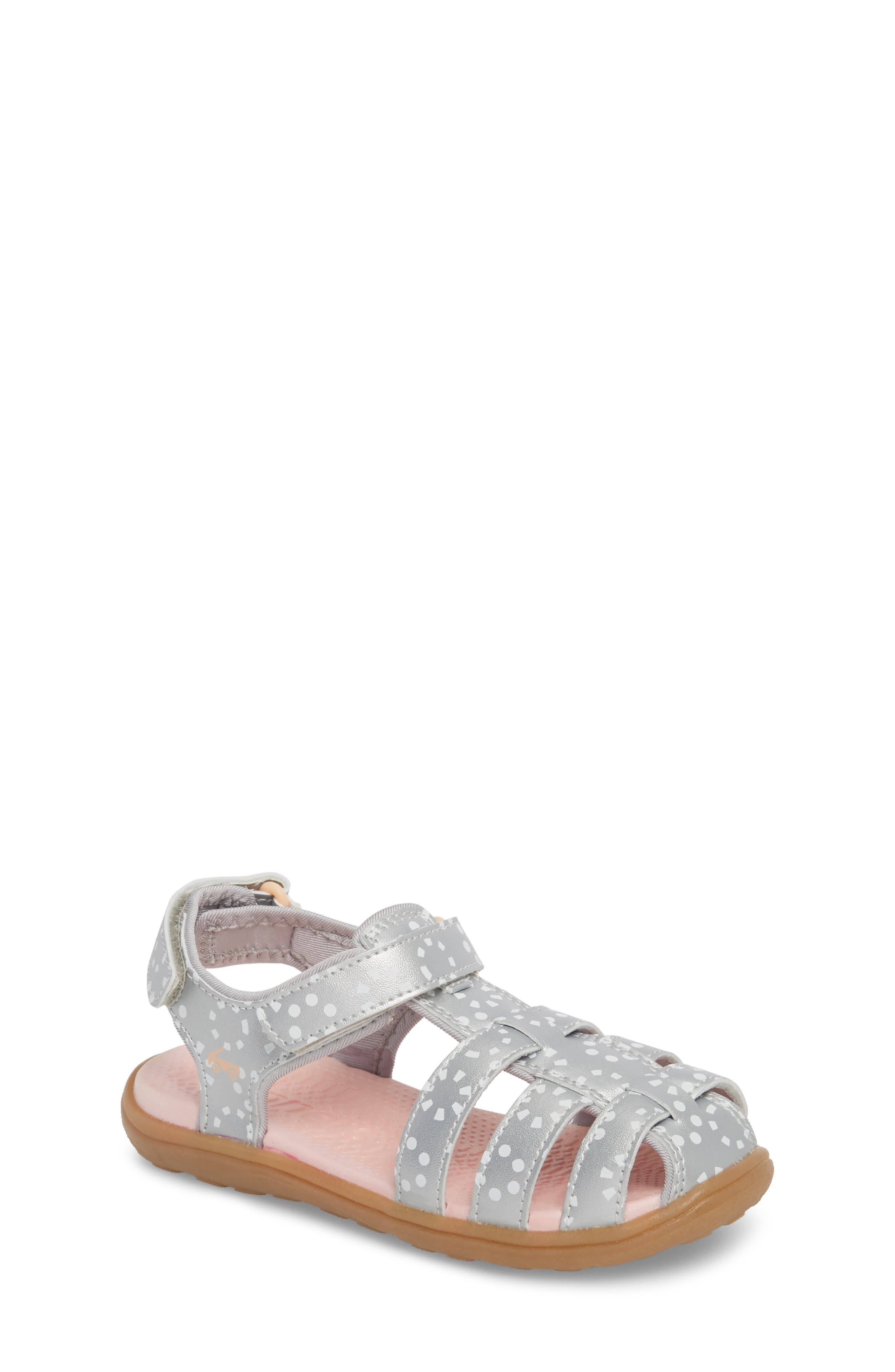 Paley Water Friendly Fisherman Sandal,                         Main,                         color, Silver/ White