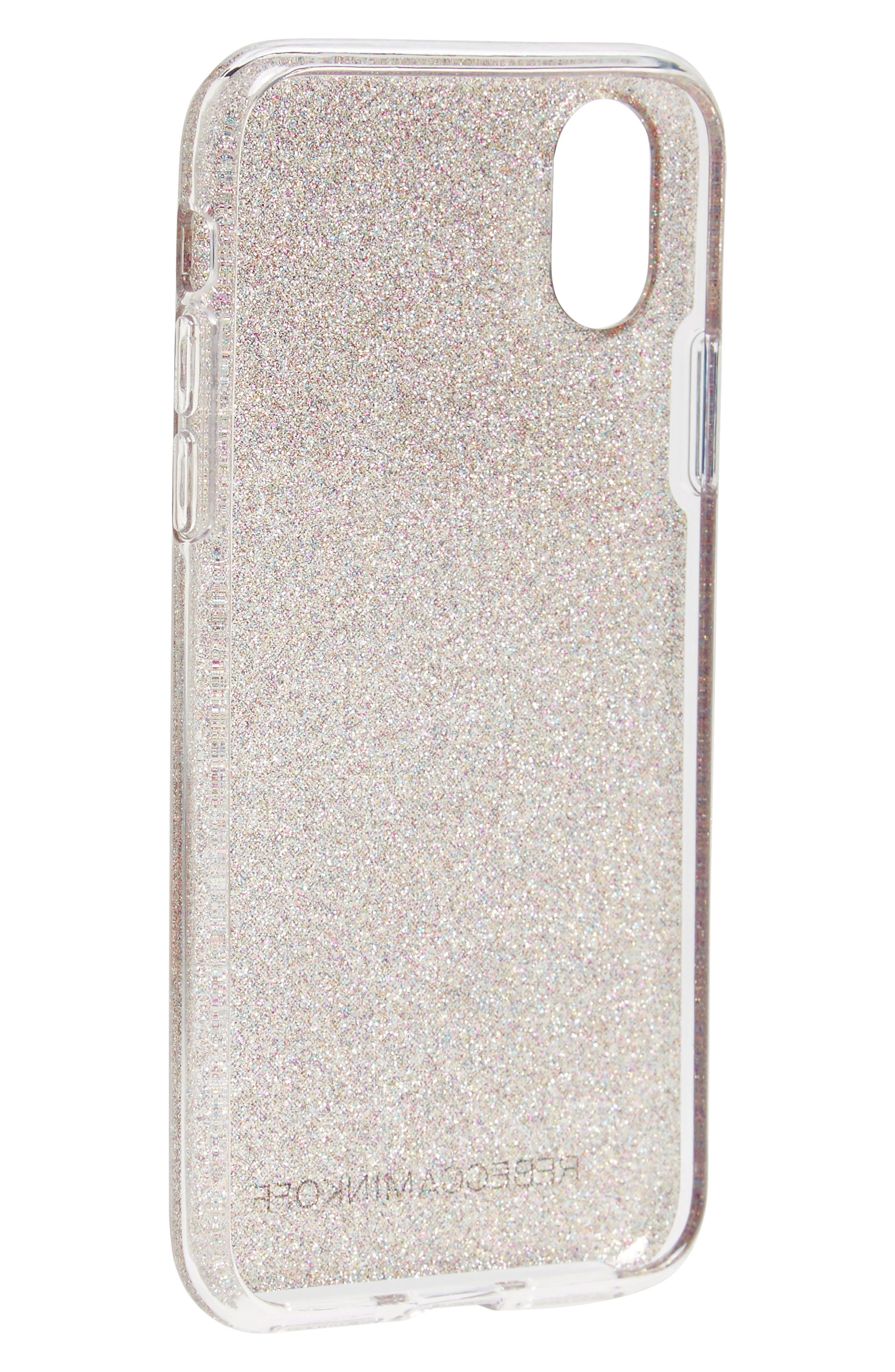 Be More Transparent iPhone X & Xs Case,                             Alternate thumbnail 2, color,                             Multi Glitter