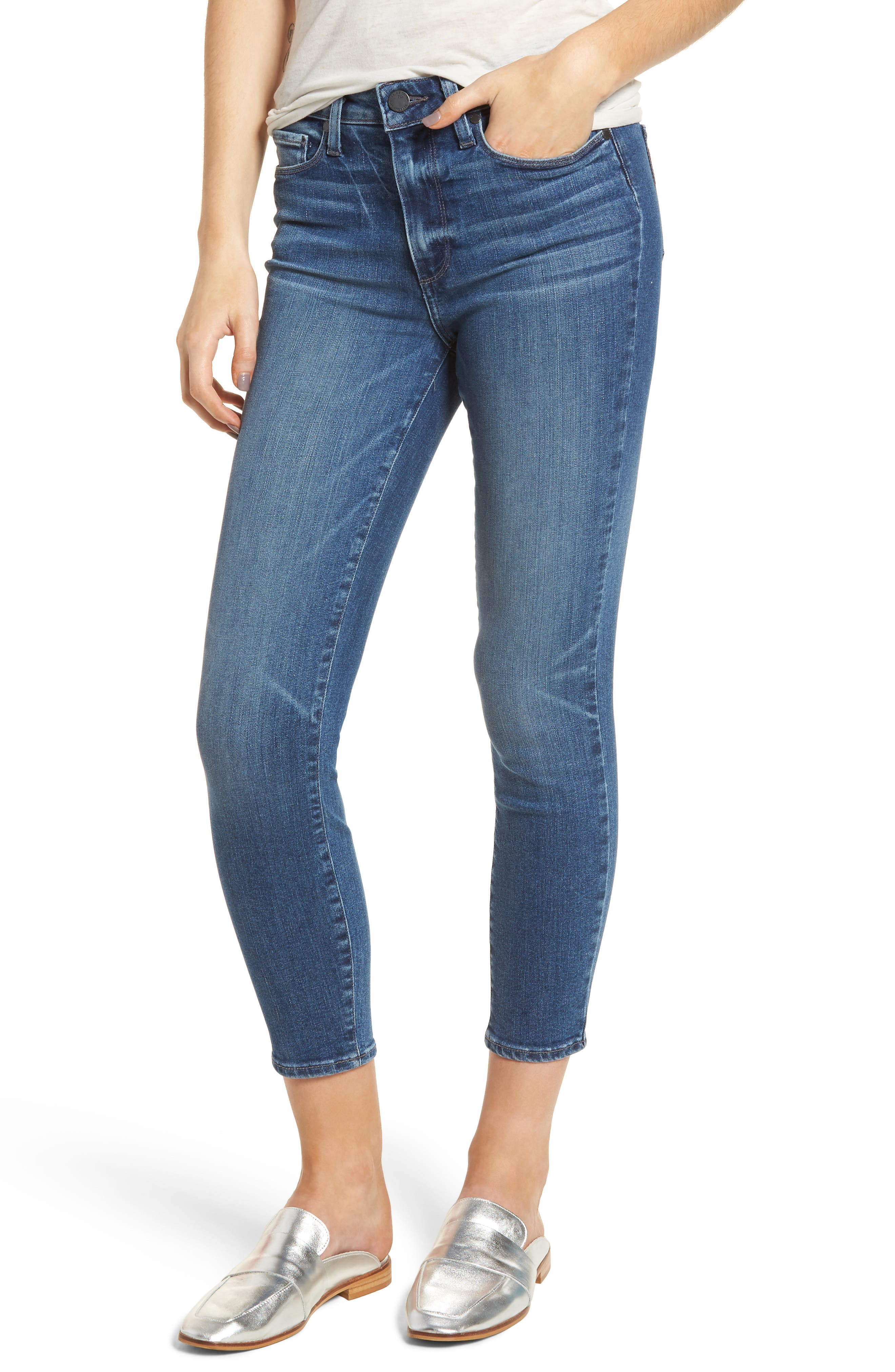 Hoxton High Waist Ankle Skinny Jeans,                             Main thumbnail 1, color,                             Bloomfield