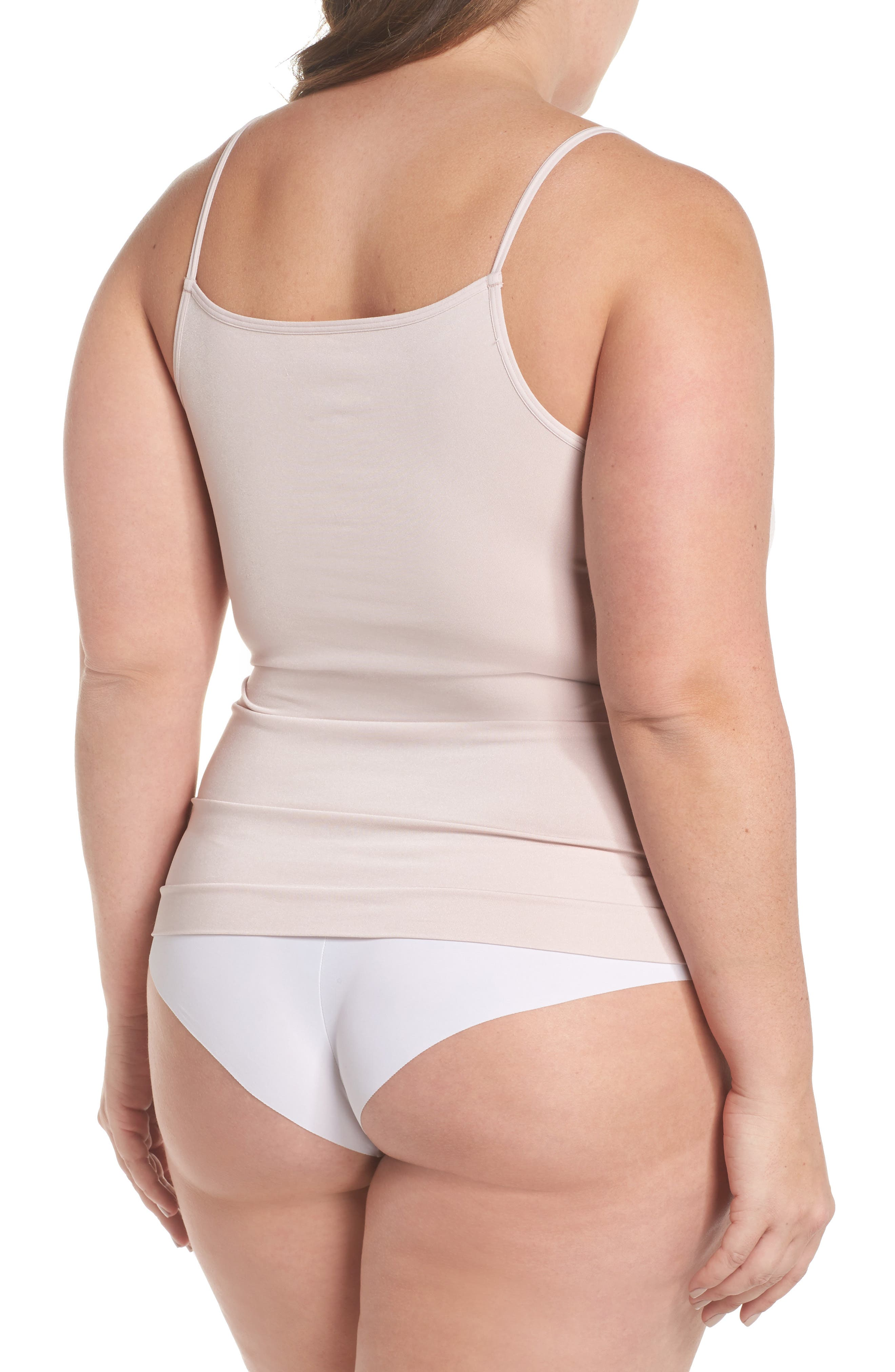 Alternate Image 2  - Halogen® Seamless Two-Way Camisole (Plus Size) (2 for $49)