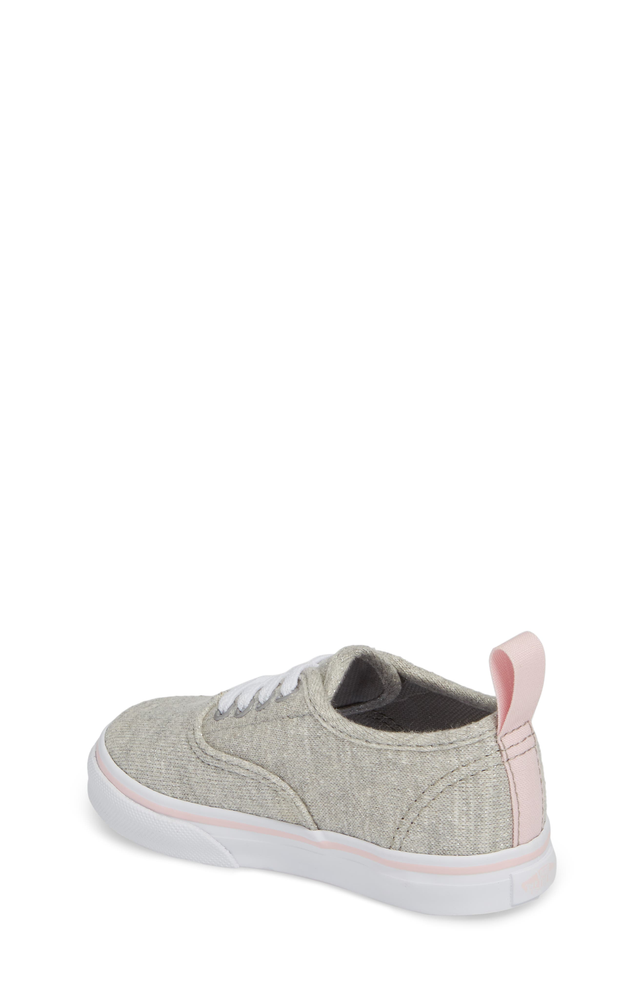 Authentic Glitter Sneaker,                             Alternate thumbnail 2, color,                             Gray/ Pink Shimmer Jersey