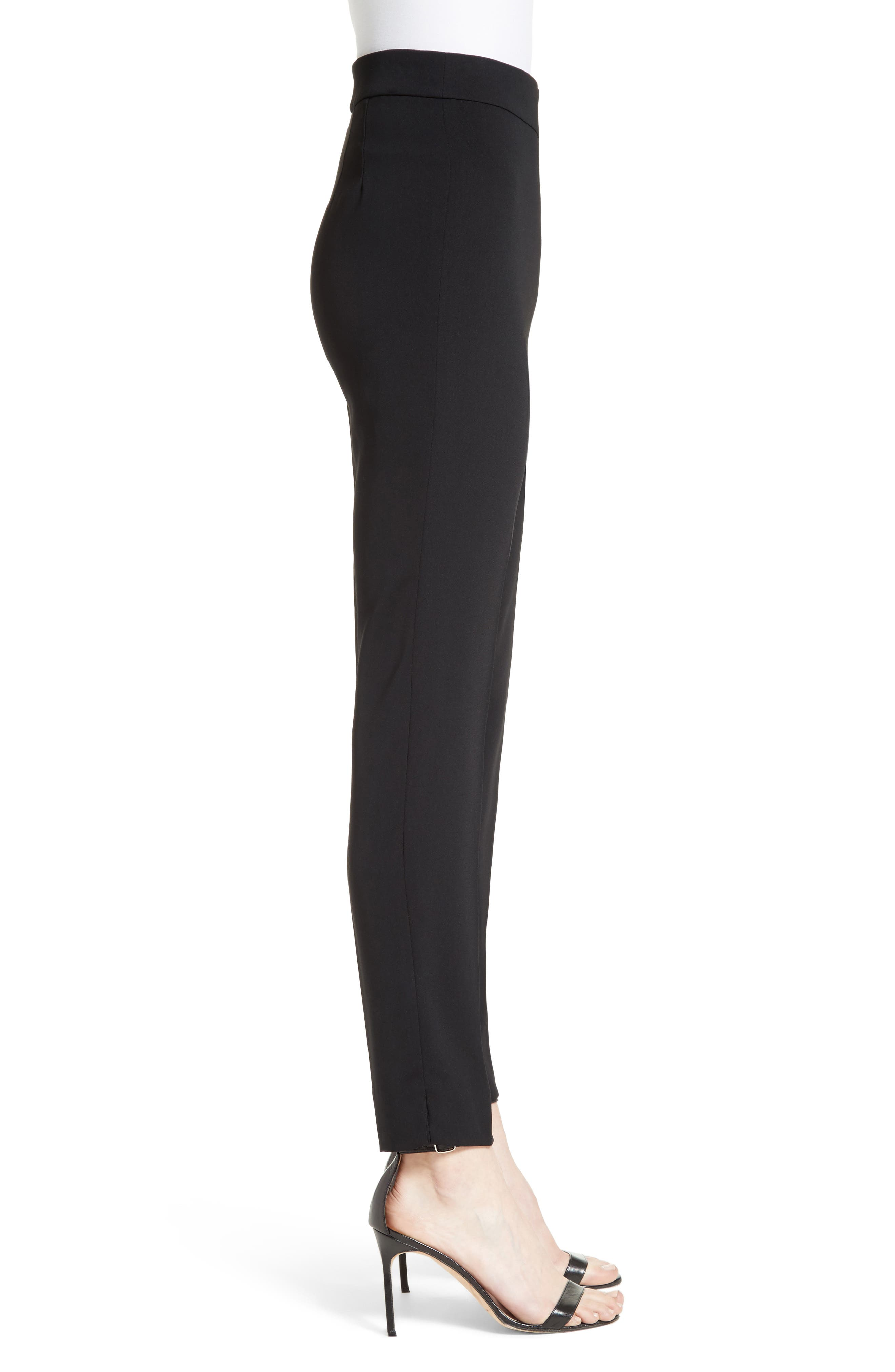 Alternate Image 4  - St. John Collection Alexa Scuba Bi-Stretch Slim Crop Pants