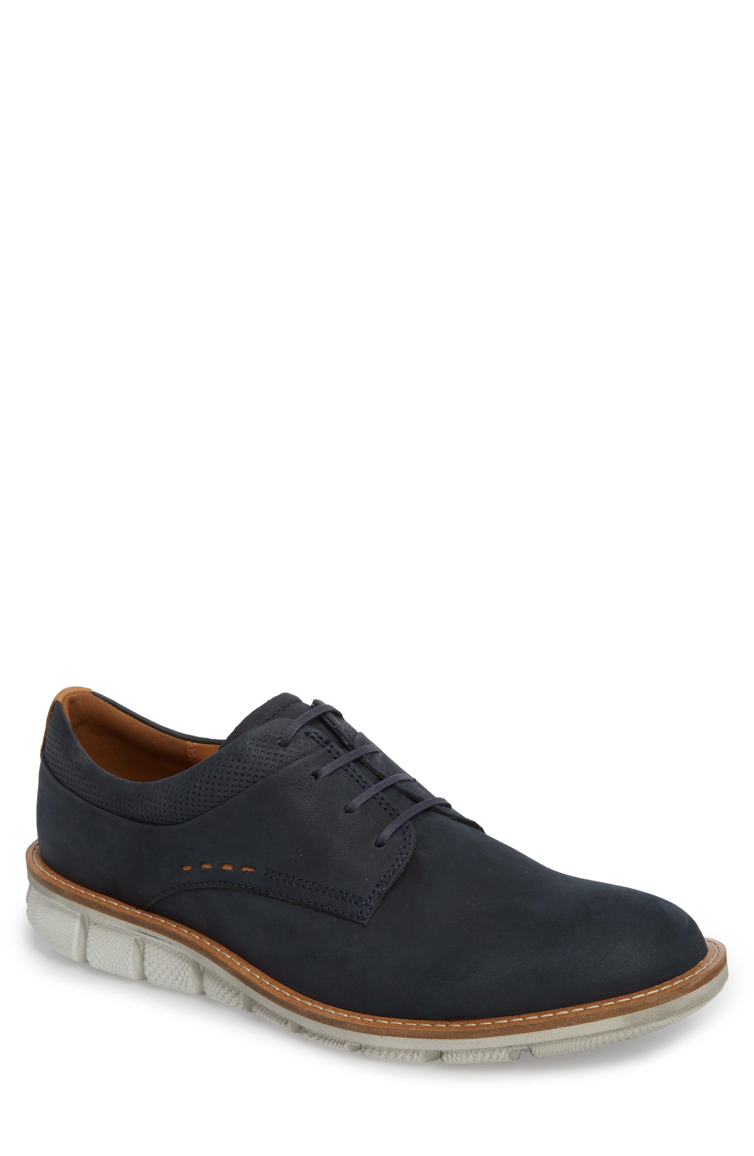 Jeremy Hybrid Plain Toe Derby,                             Main thumbnail 1, color,                             Navy Leather