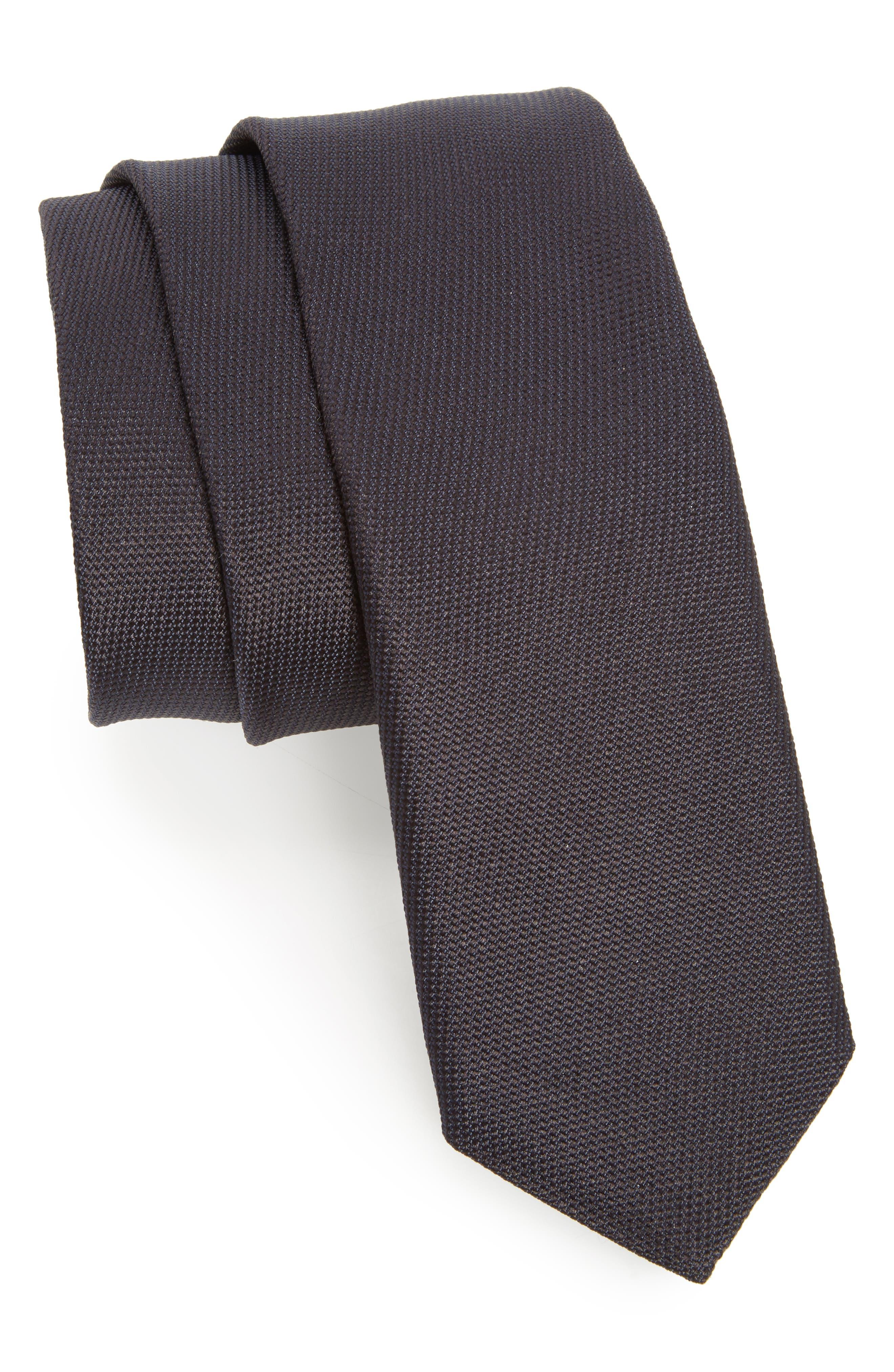 Nordstrom x BOSS Silk Tie,                             Main thumbnail 1, color,                             Blue