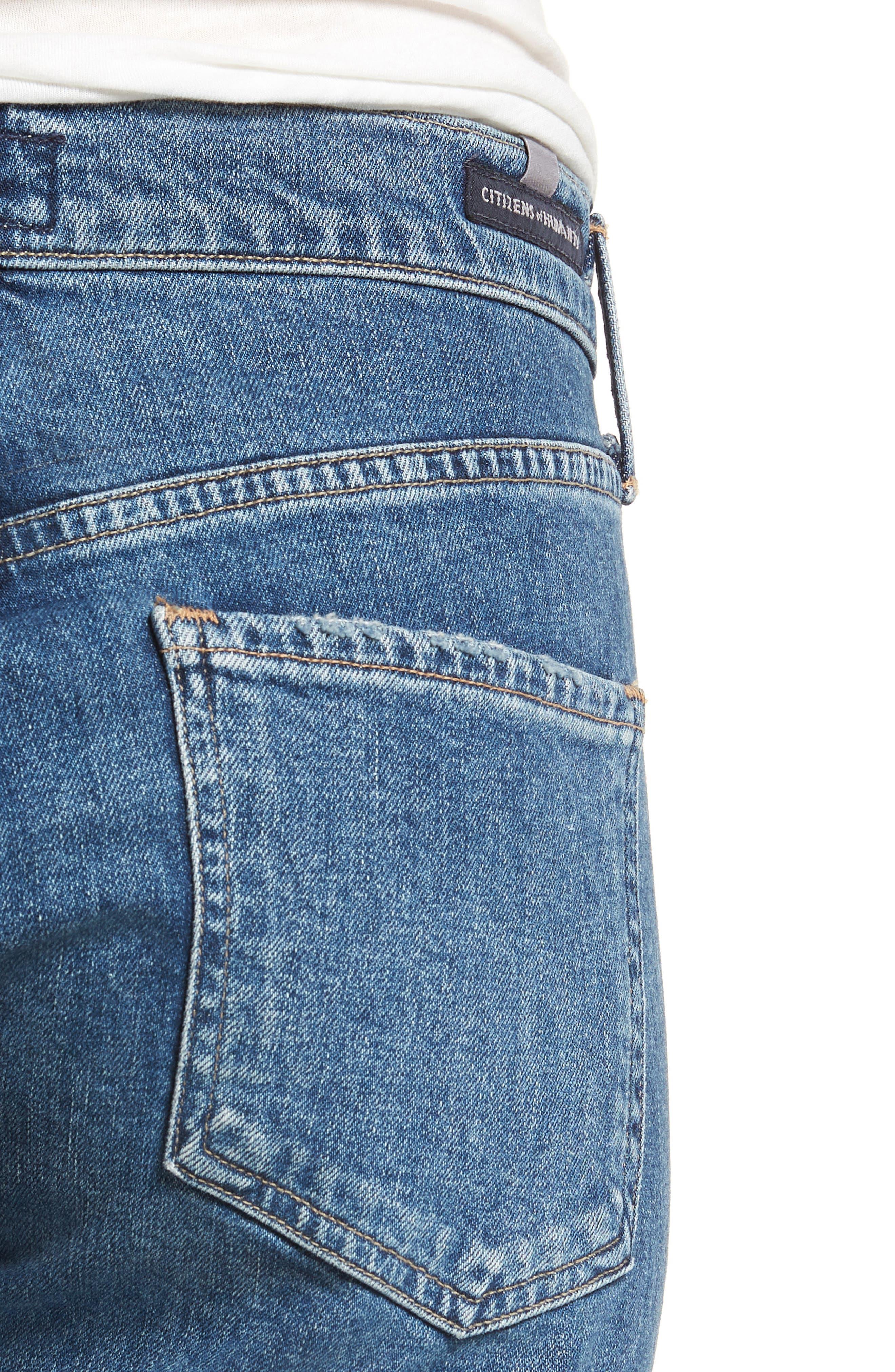 Emerson Slim Boyfriend Jeans,                             Alternate thumbnail 4, color,                             Century