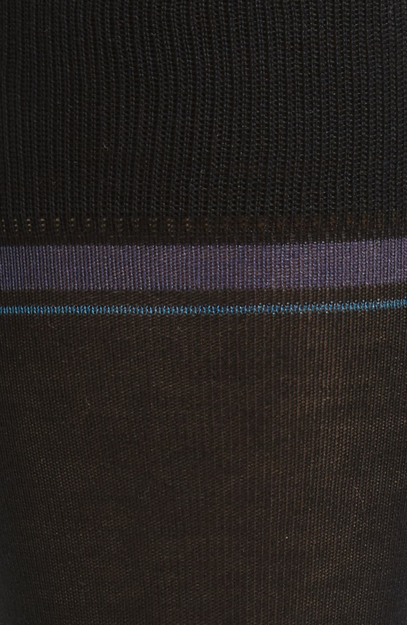 Double Banded Socks,                             Alternate thumbnail 2, color,                             Black/ Blue
