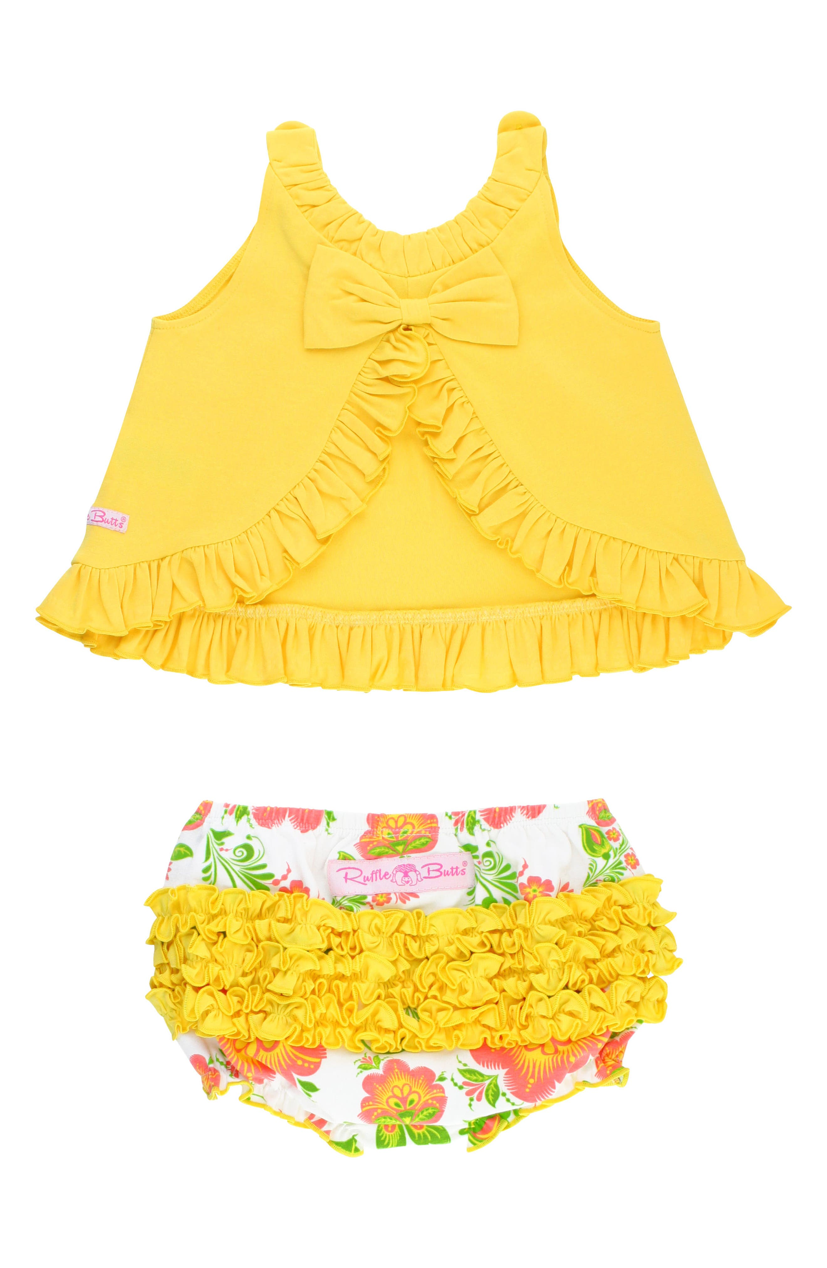 Ivy Lane Swing Top & Ruffle Bloomers Set,                             Alternate thumbnail 2, color,                             Yellow